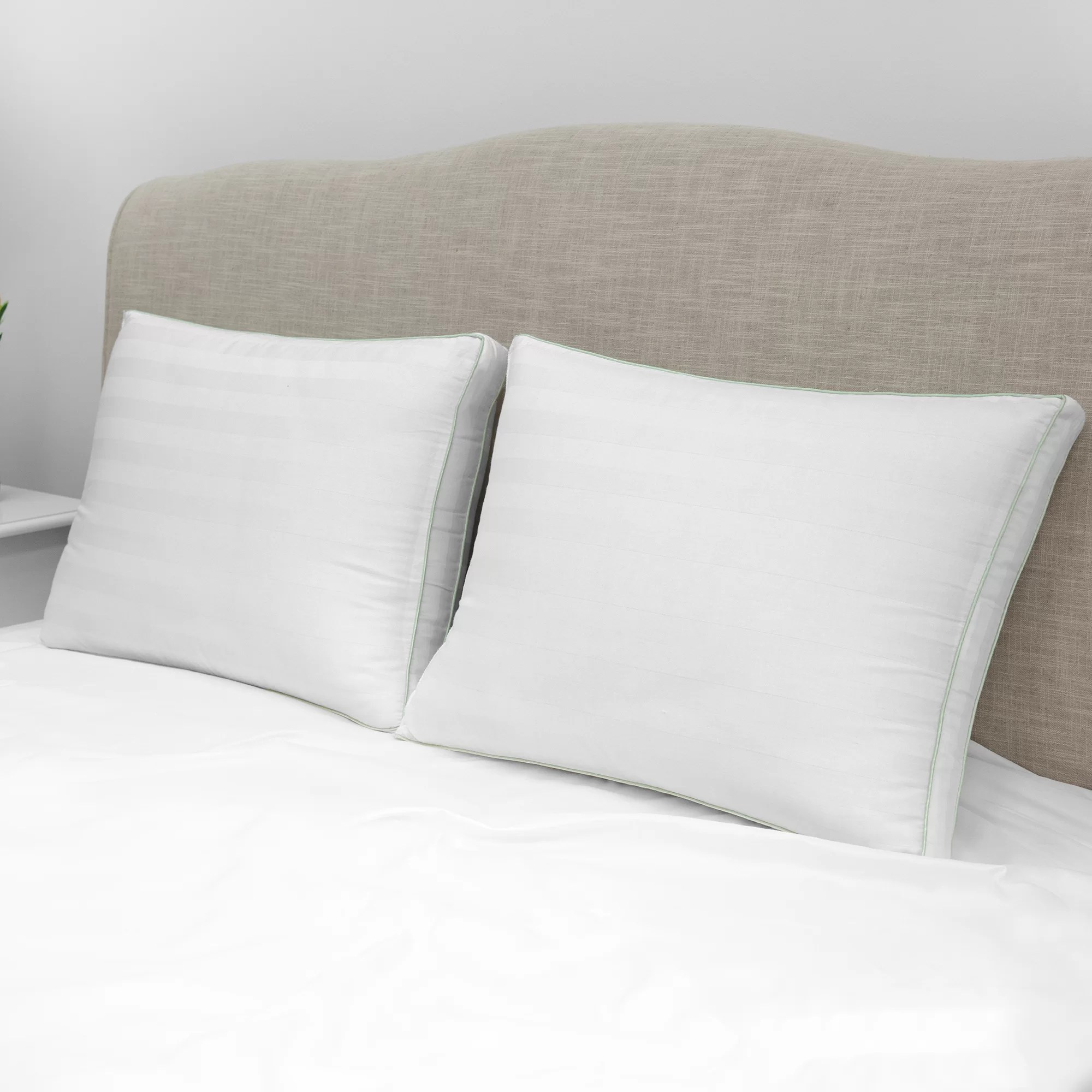 Standard Bed Pillows Sexton Plush Gusseted Medium Standard Bed Pillow
