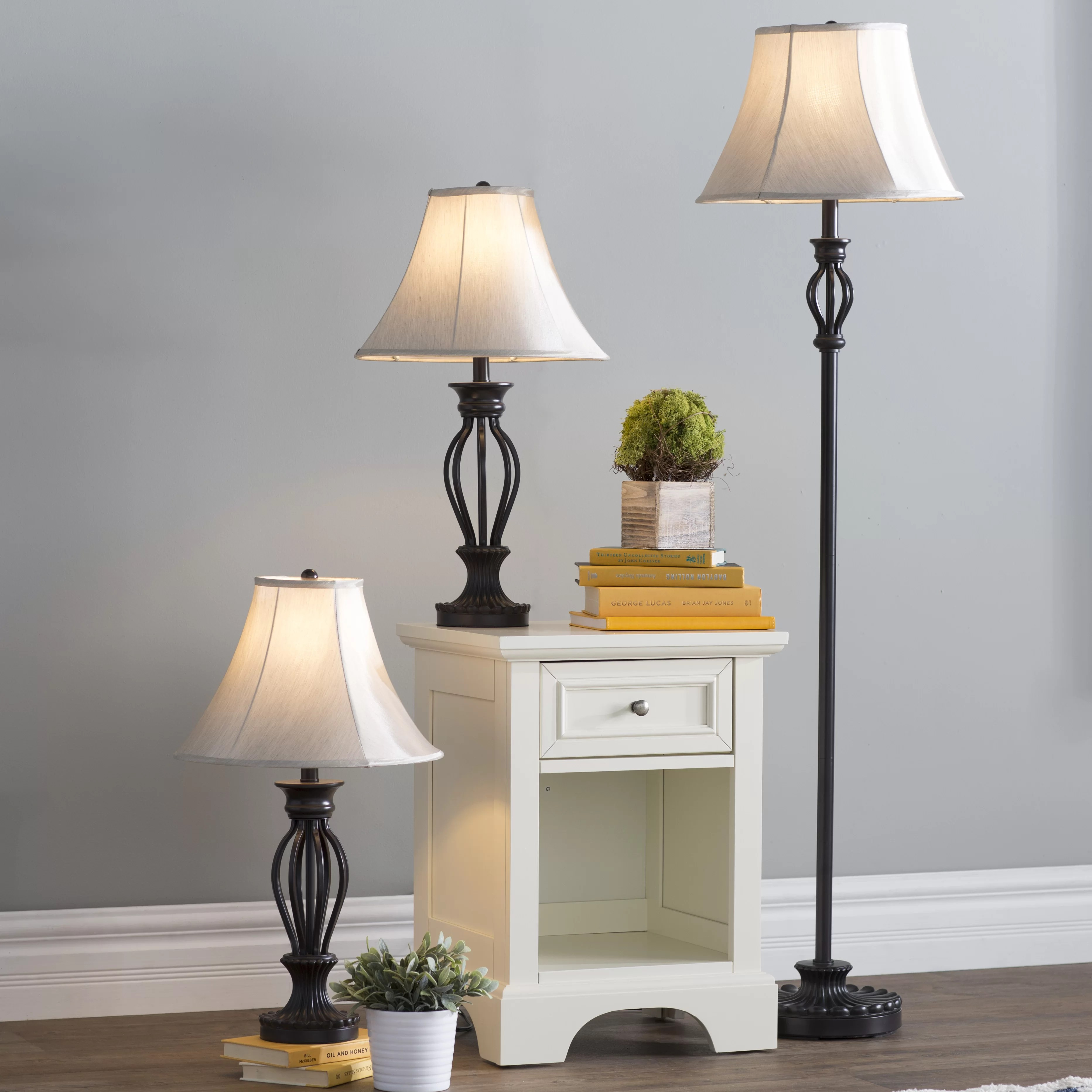 Floor Table Lamps Gambier 3 Piece Table And Floor Lamp Set