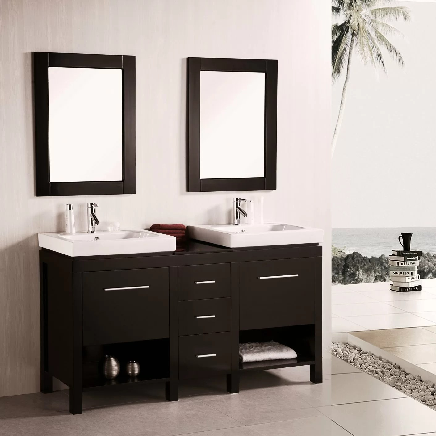 Bathroom With Mirrors 60