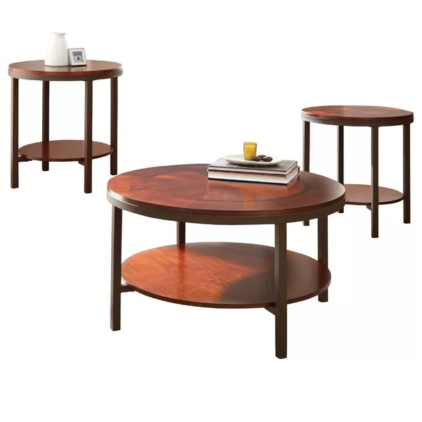 Steve Silver Furniture Trisha 3 Piece Coffee Table Set \ Reviews - 3 piece living room table set