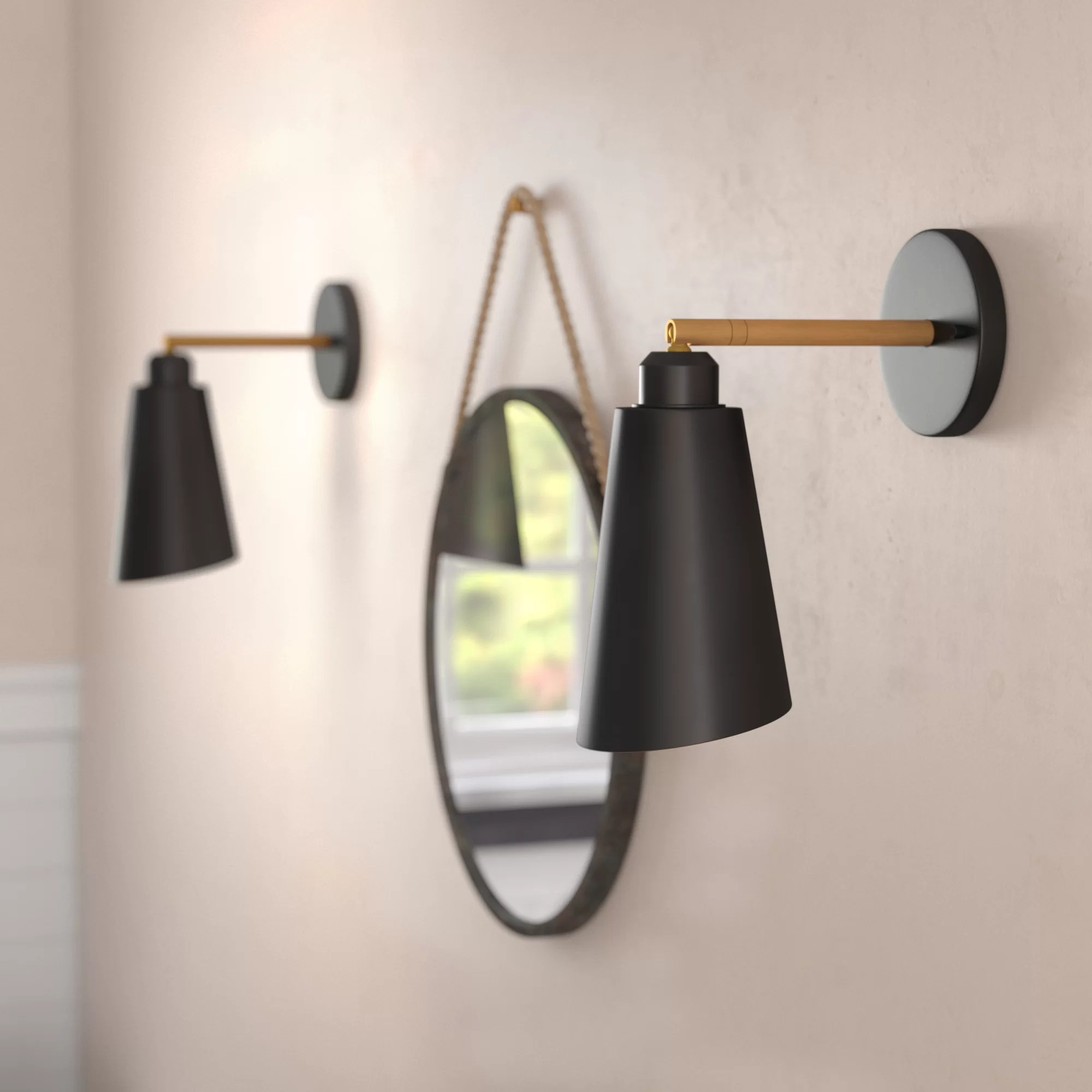 Office Wall Sconces Valmonte 1 Light Led Armed Sconce