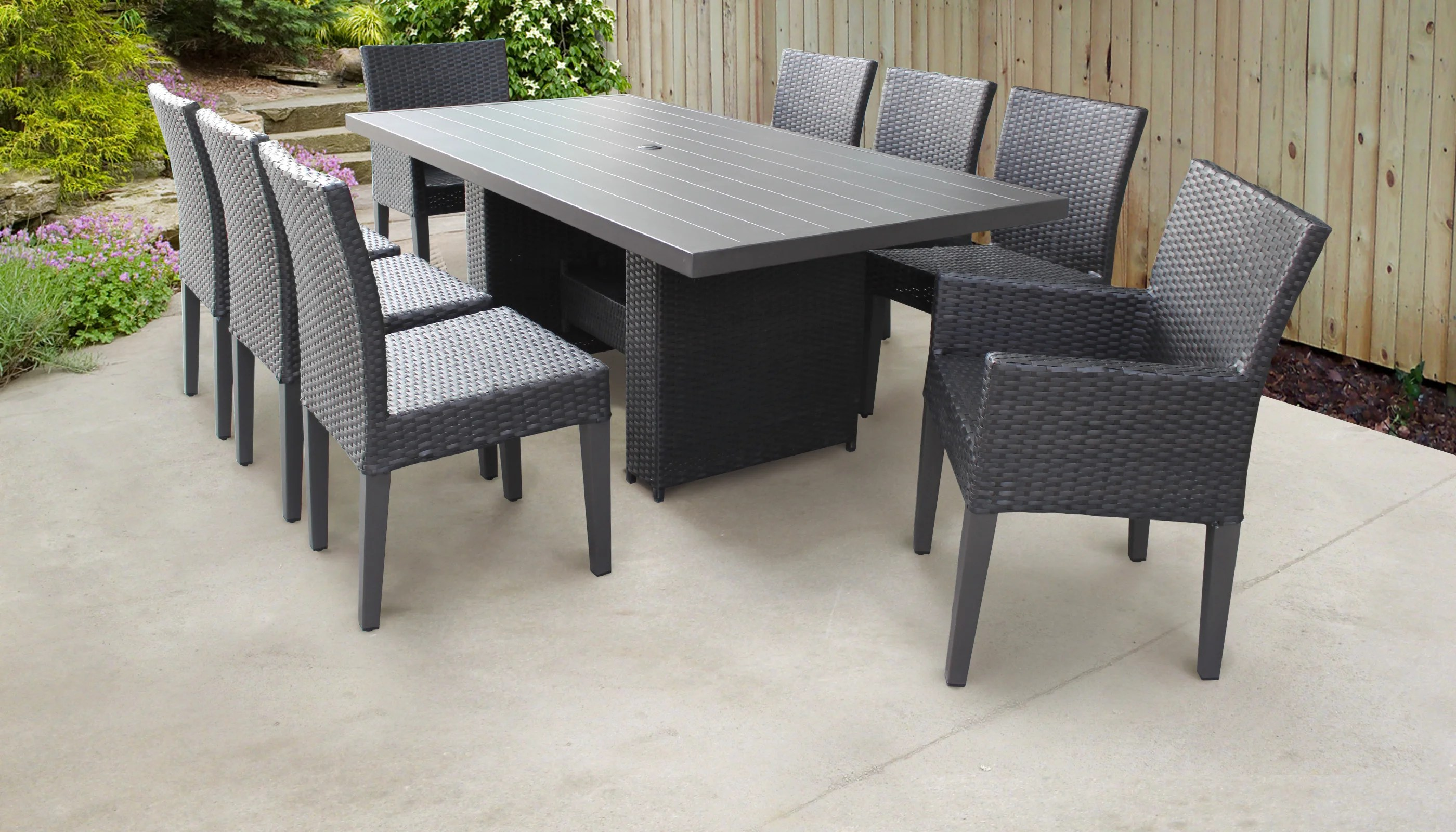 9 Piece Outdoor Dining Set Belle 9 Piece Outdoor Patio Dining Set