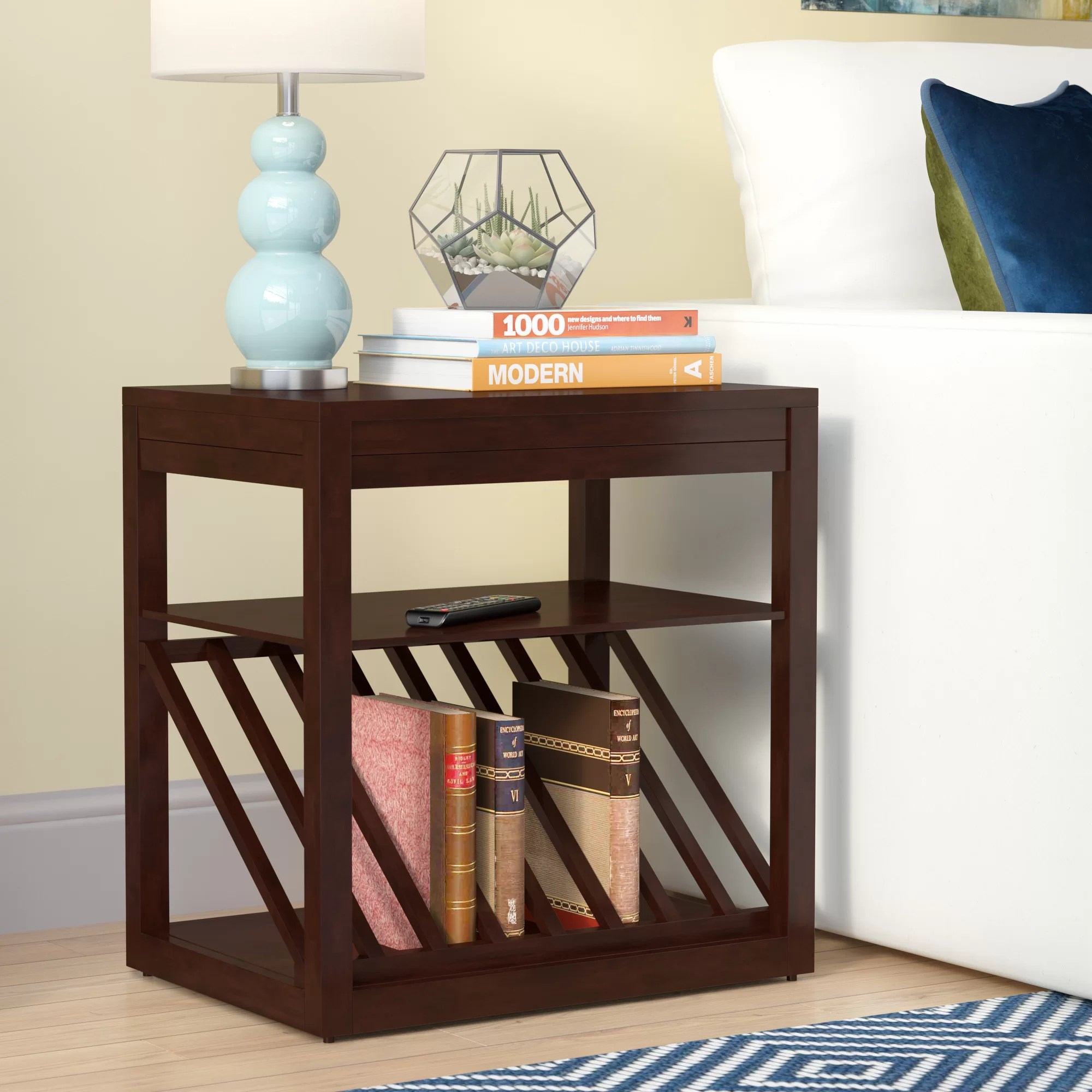End Table With Lamp Built In Raggs End Table
