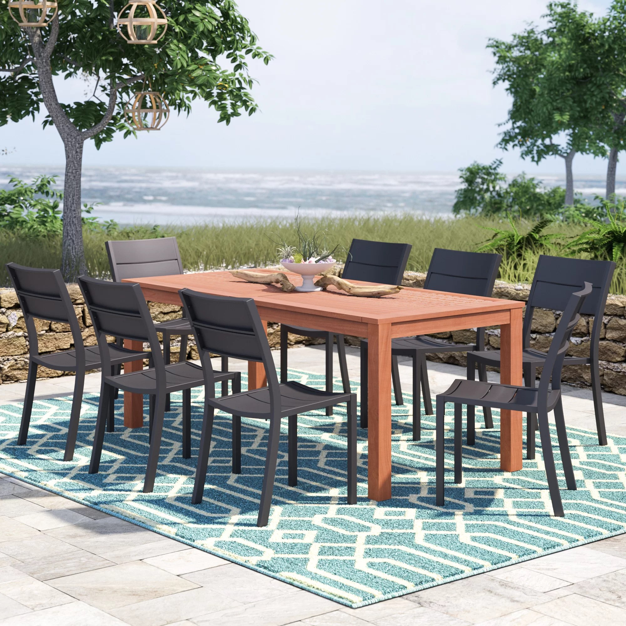 9 Piece Outdoor Dining Set Nettleton 9 Piece Dining Set