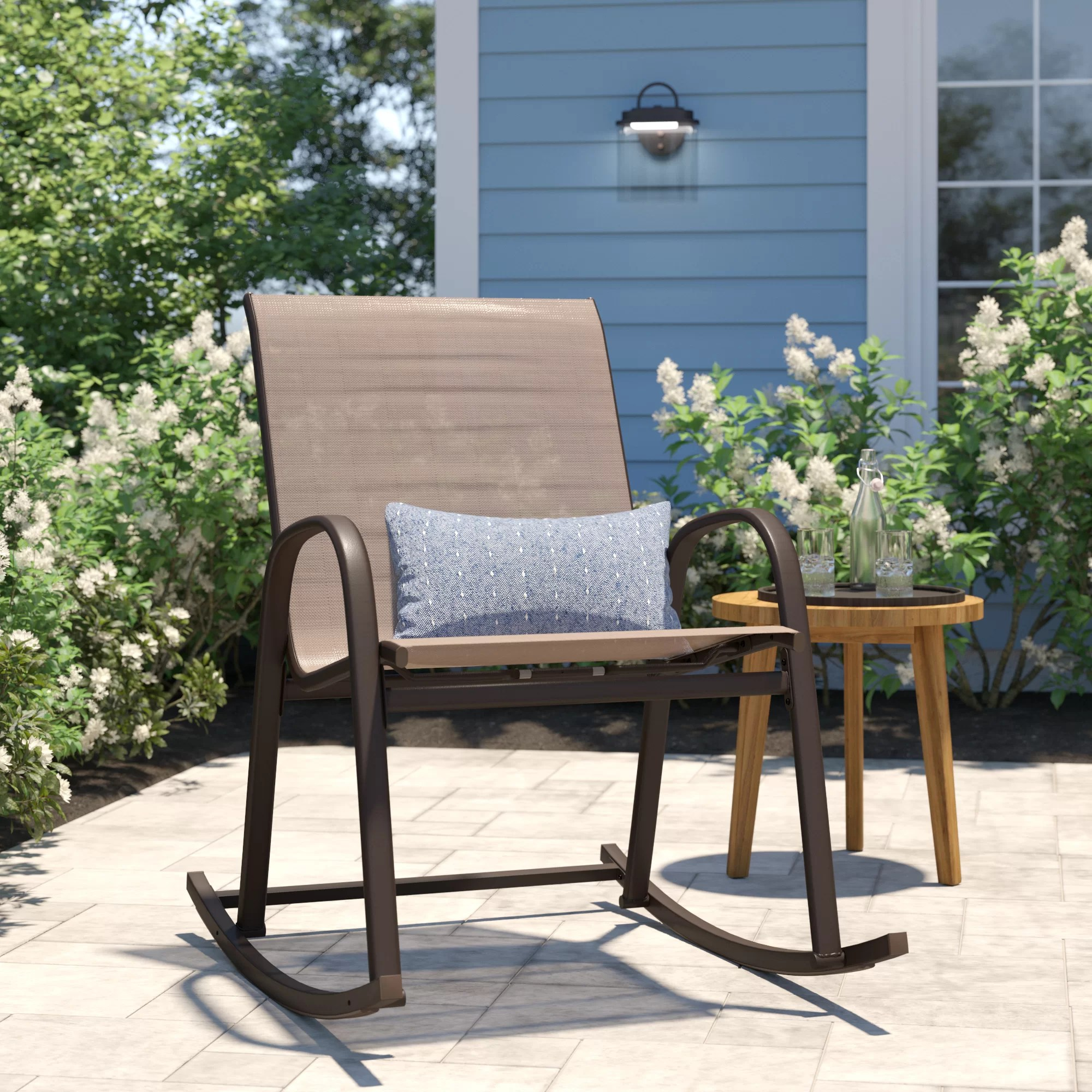 Mexican Rocking Chair Metal Patio Rocking Chairs You Ll Love In 2019 Wayfair