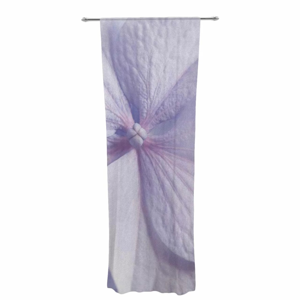 Lavender Sheer Curtains Suzanne Harford Hydrangea Flower Lavender Decorative Nature Sheer Rod Pocket Curtain Panels