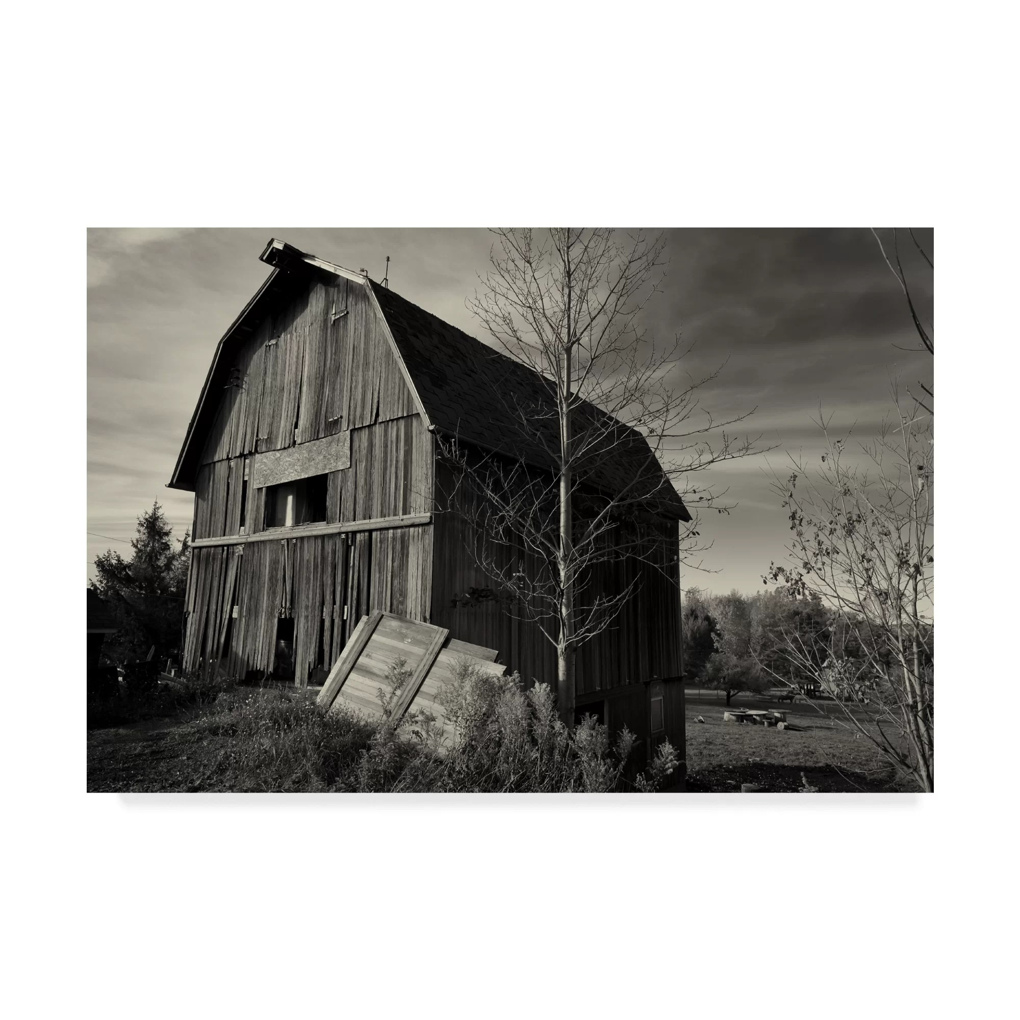 Trademark Art Old Barn Autumn Photographic Print On Wrapped Canvas Wayfair