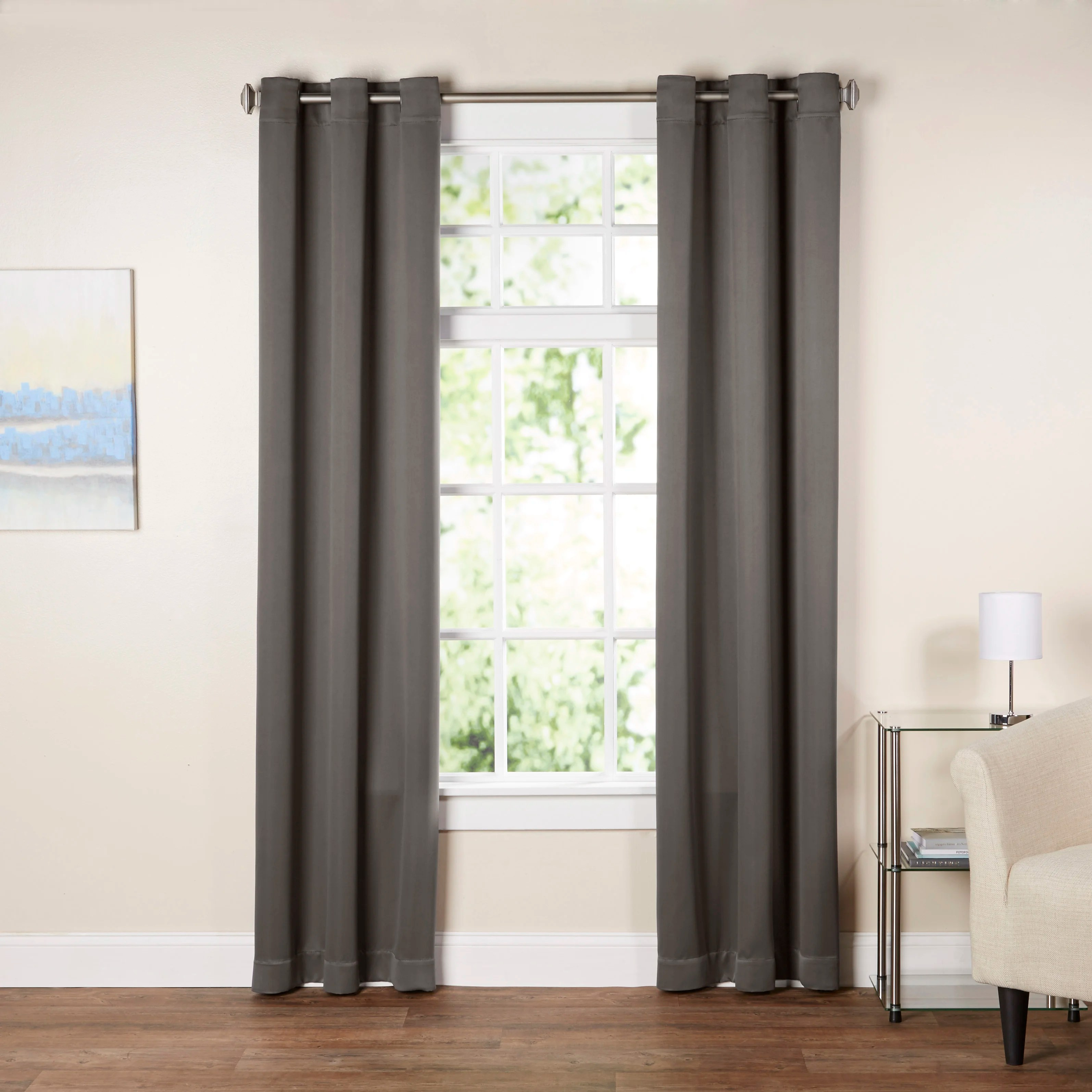 36 Inch Room Darkening Curtains Wayfair Basics Solid Room Darkening Grommet Single Curtain Panel