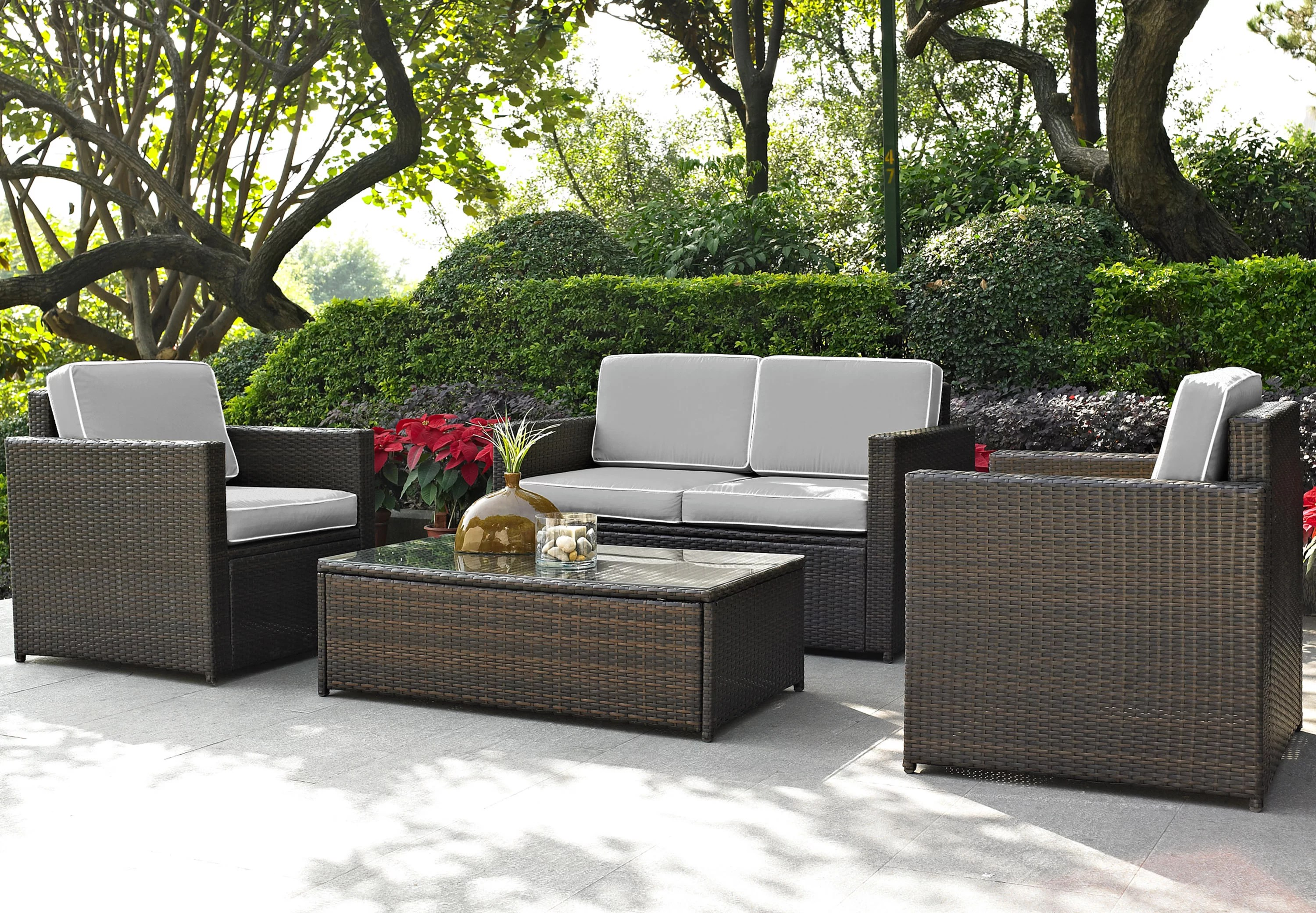 Baptist 6 Piece Rattan Sofa Set With Cushions Mercury Row Belton 4 Piece Sofa Set With Cushions