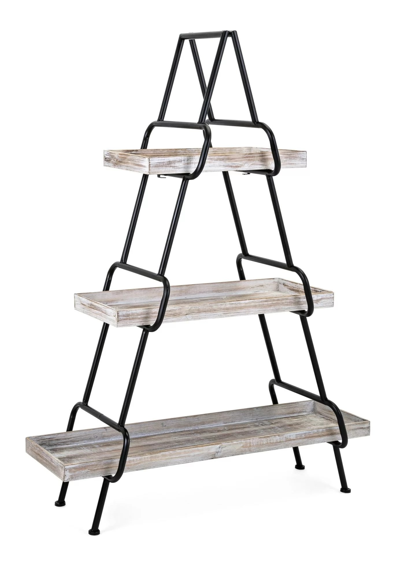 Etagere Metal Suazo Wood And Metal Etagere Bookcase