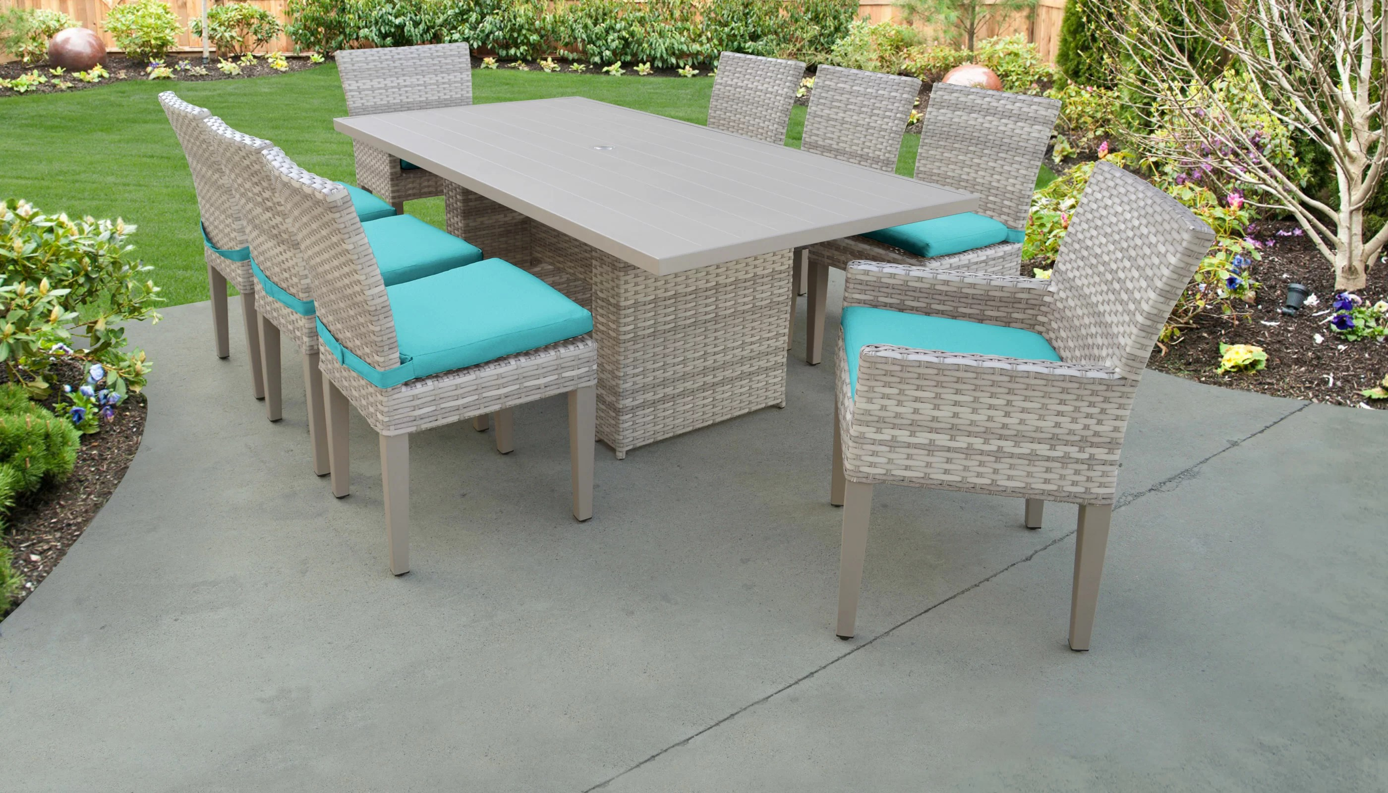 9 Piece Outdoor Dining Set Fairmont 9 Piece Outdoor Patio Dining Set With Cushions
