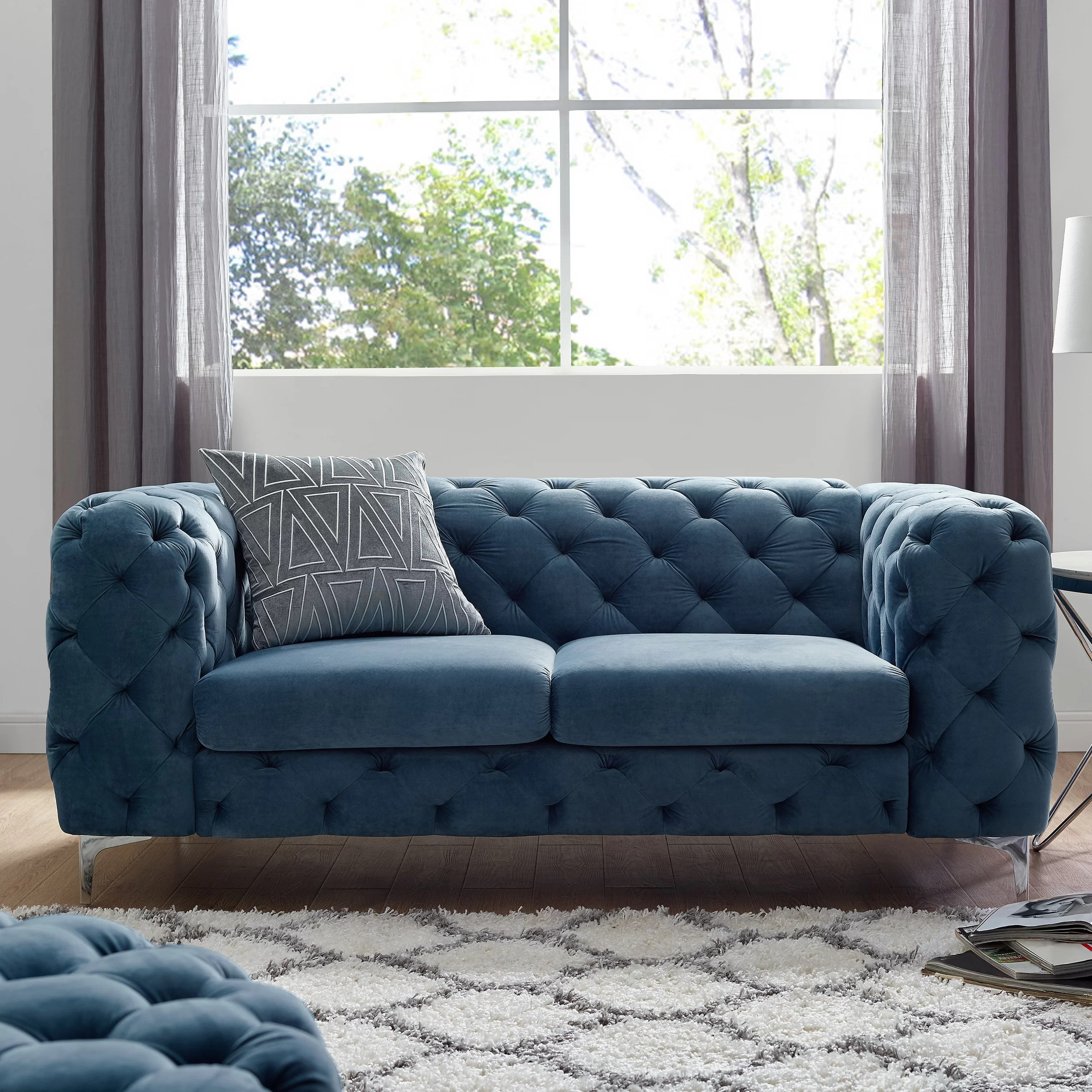 Sofa In Chesterfield Look Koger Chesterfield Loveseat