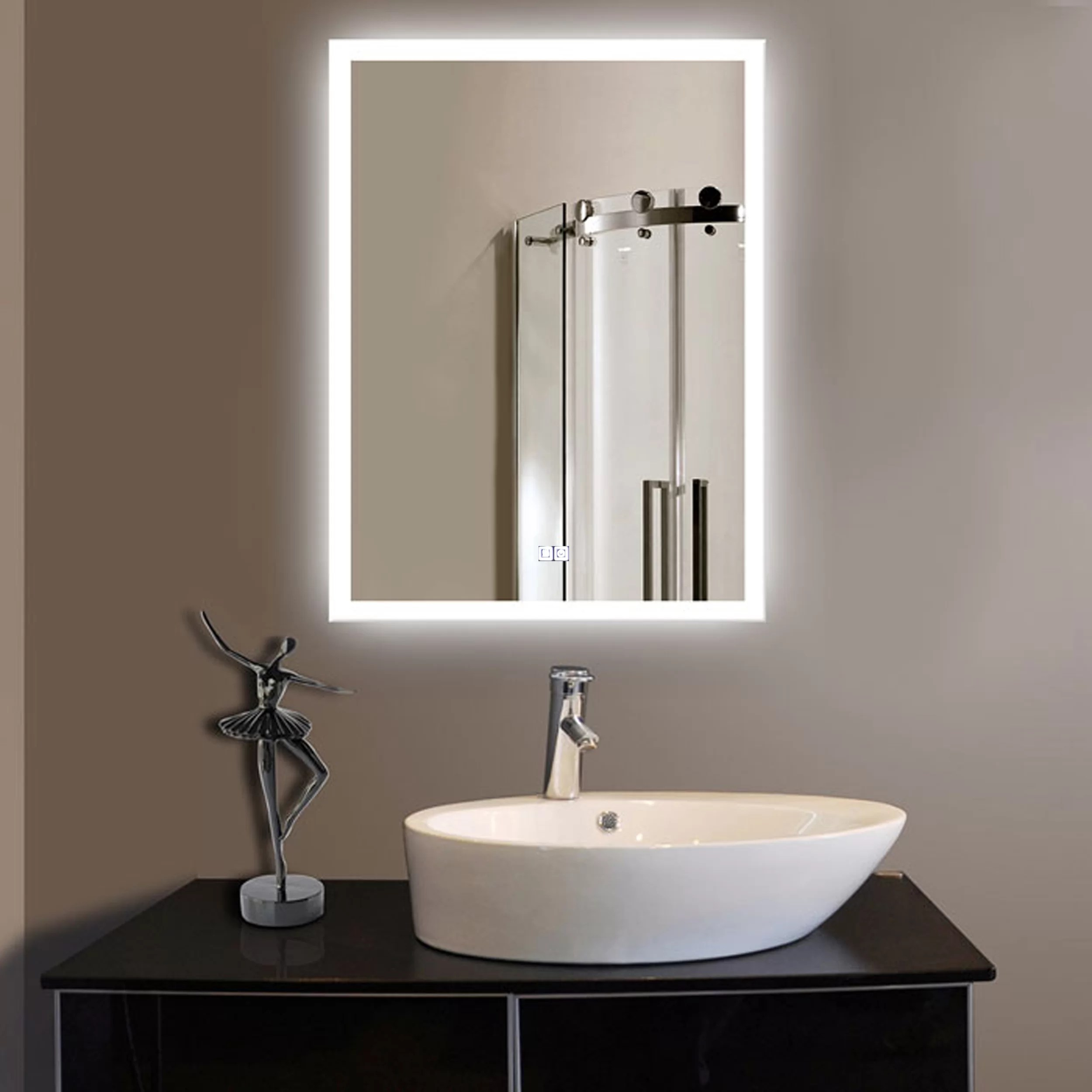Orren Ellis Laniel Halo Lighted Led Bathroom Vanity Mirror Reviews Wayfair Ca