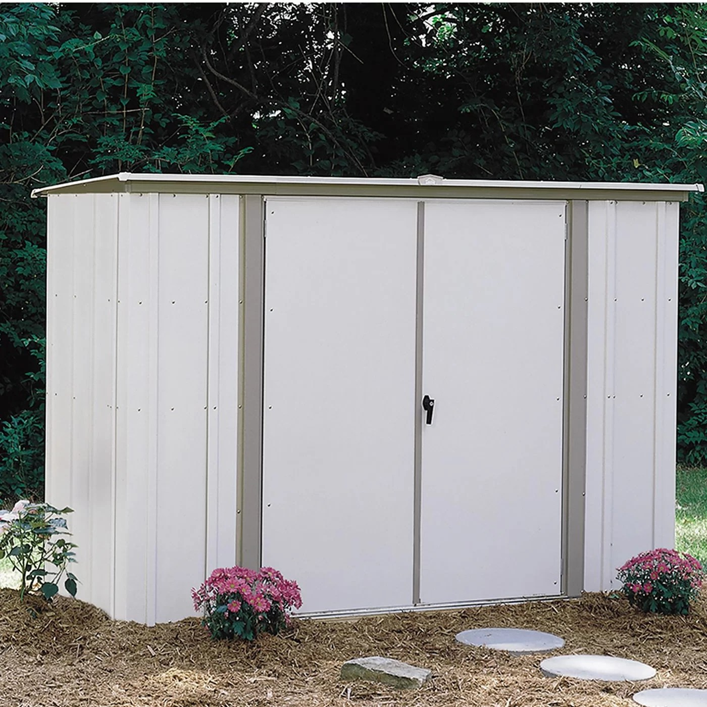 Steel Storage Sheds 8 Ft W X 3 Ft D Metal Storage Shed