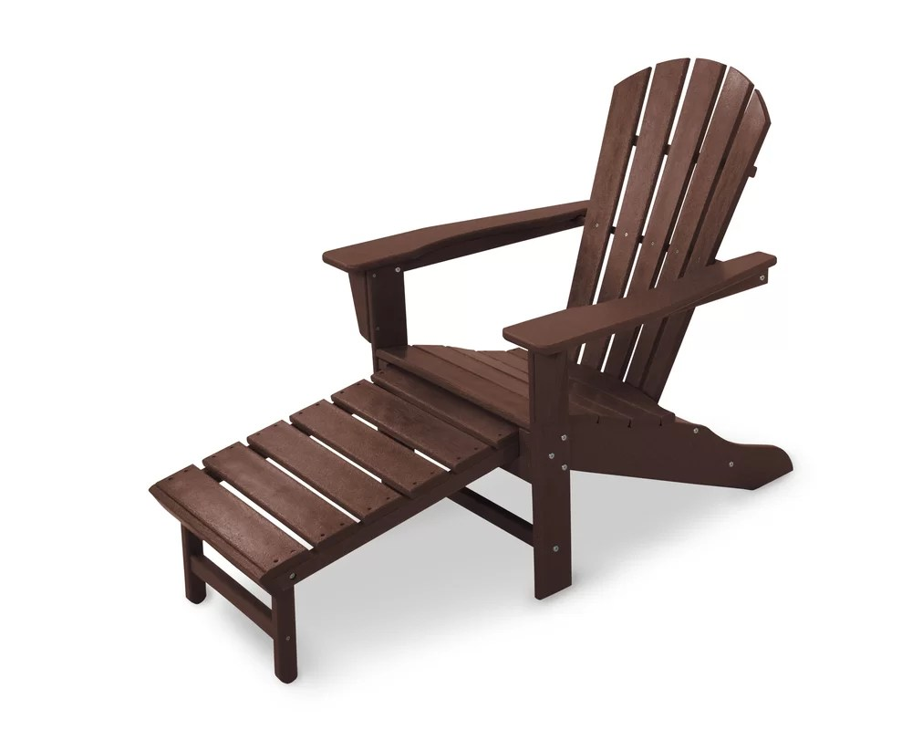 Palm Coast Plastic Adirondack Chair With Ottoman