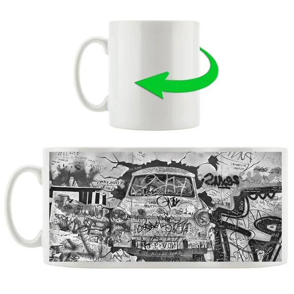 East Urban Home Kaffeebecher Trabant Durch Die Wand Trabi