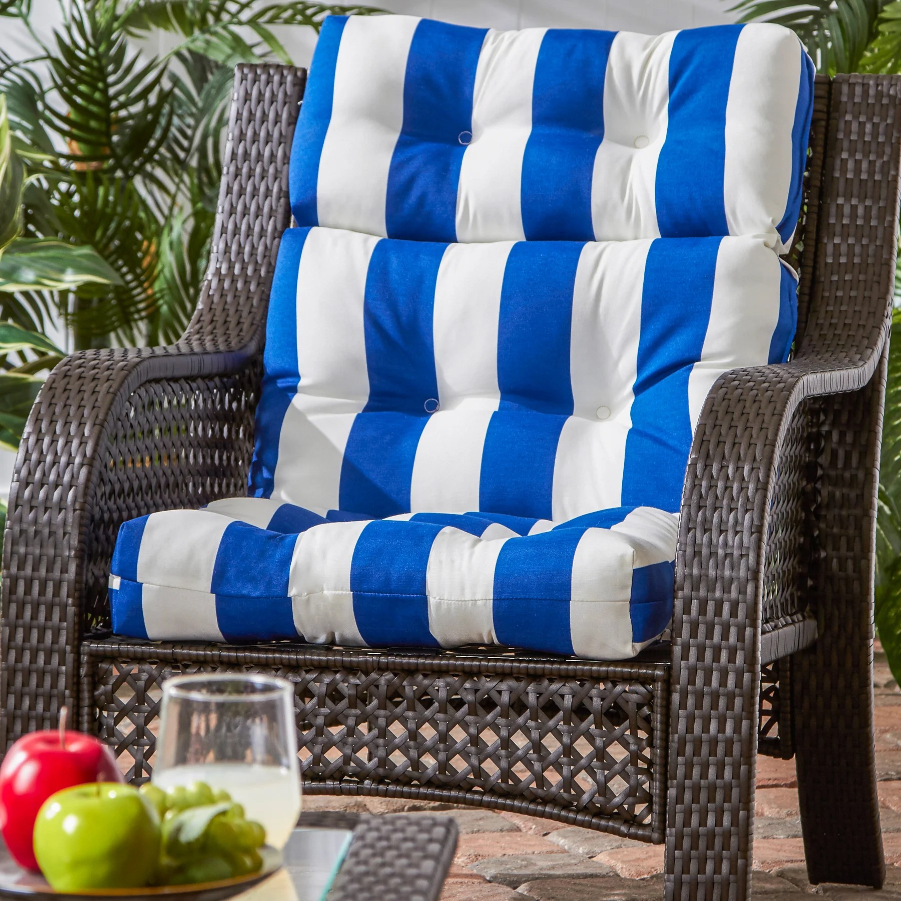 Blue Floral Flower Patio Furniture Cushions You Ll Love In 2021 Wayfair