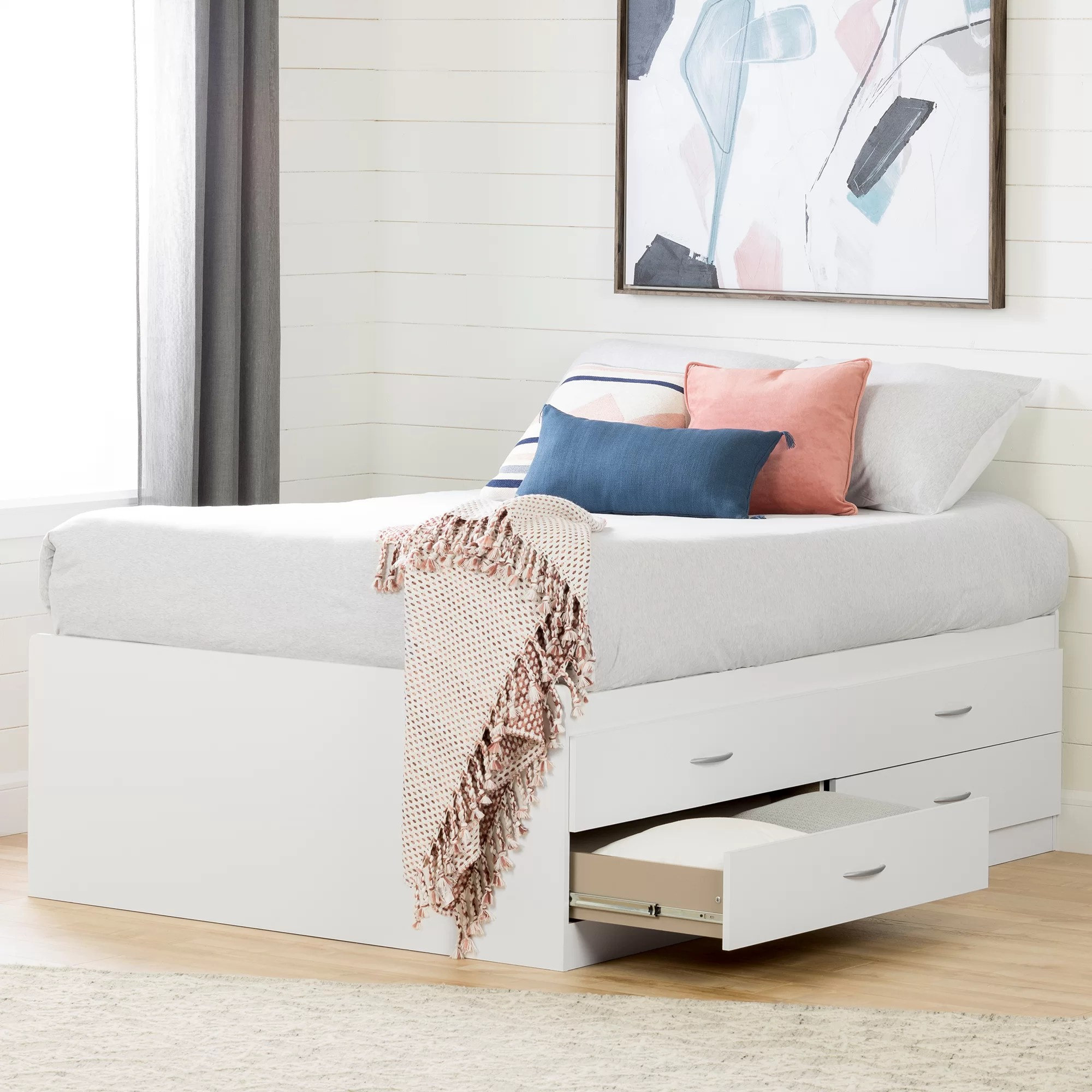 Full Double Bed Step One Full Double Storage Platform Bed
