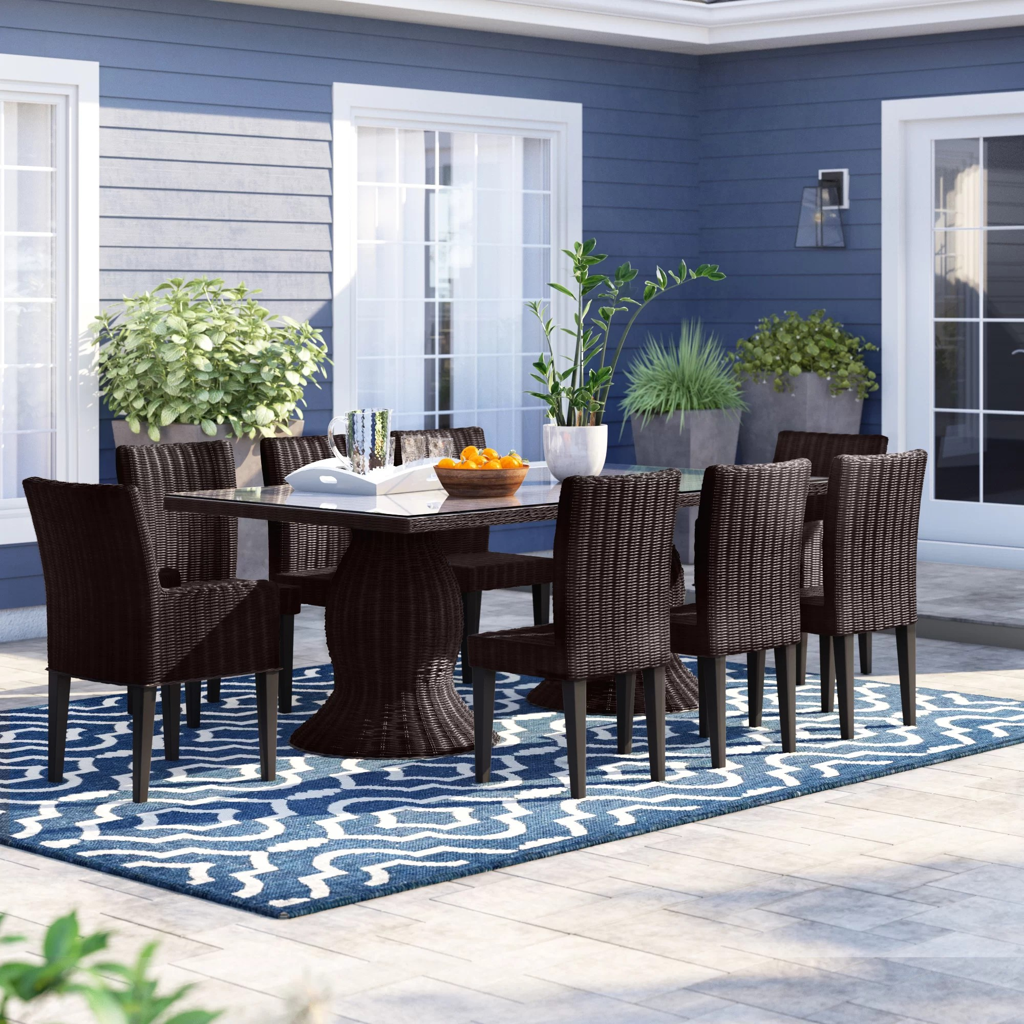 9 Piece Outdoor Dining Set Fairfield 9 Piece Dining Set