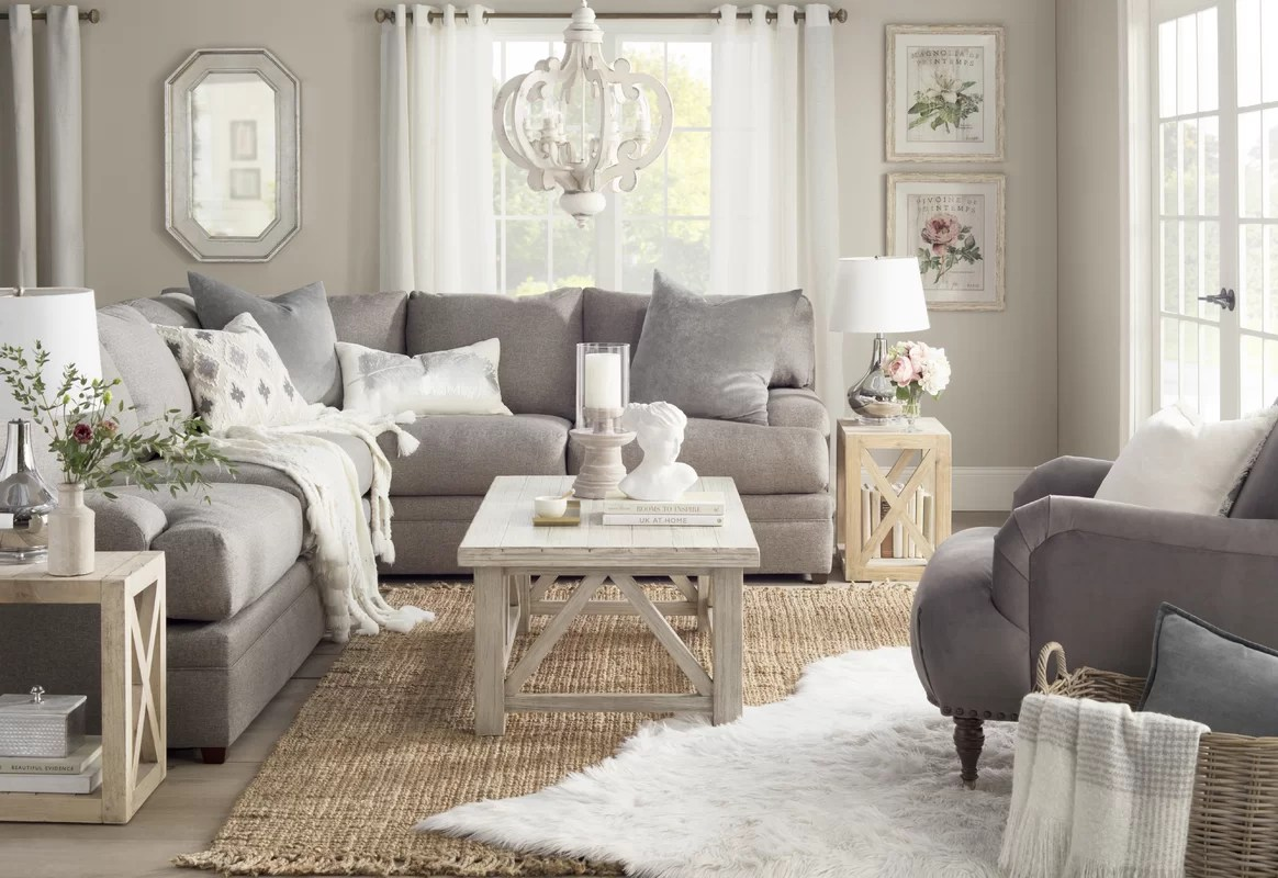 Farmhouse Coffee Shop Farmhouse Living Room Design Photo By Joss Main