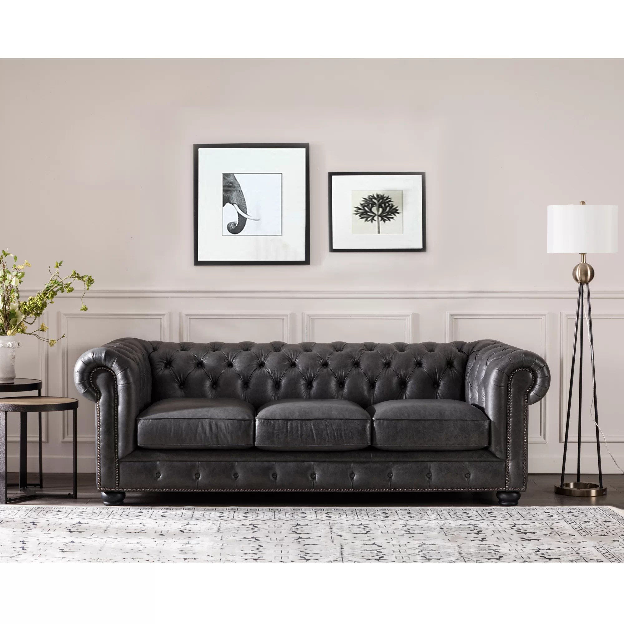Chesterfield Sofa Brinson Leather Chesterfield Sofa