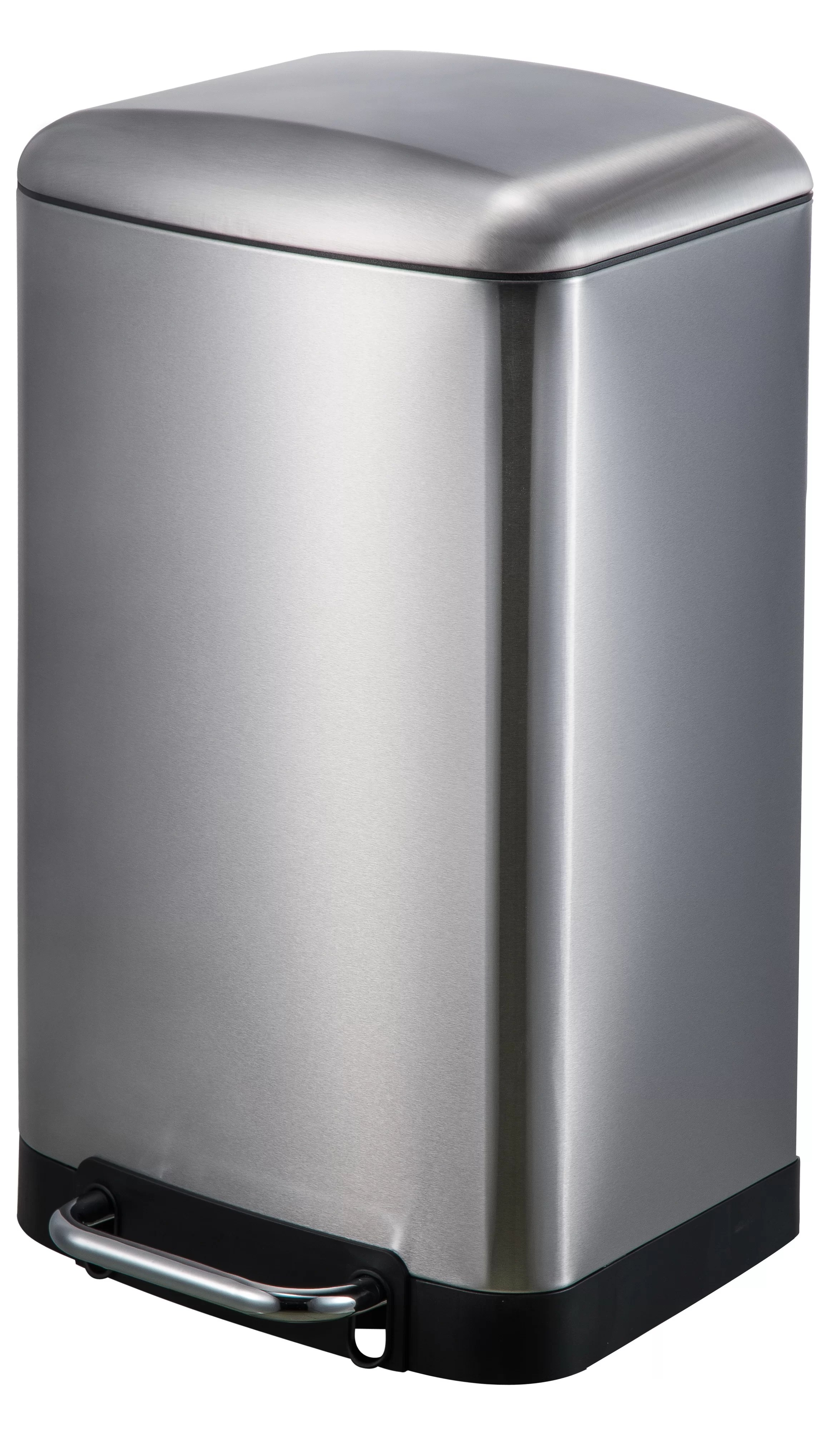 Elegant Trash Can Stainless Steel 8 Gallon Step On Trash Can