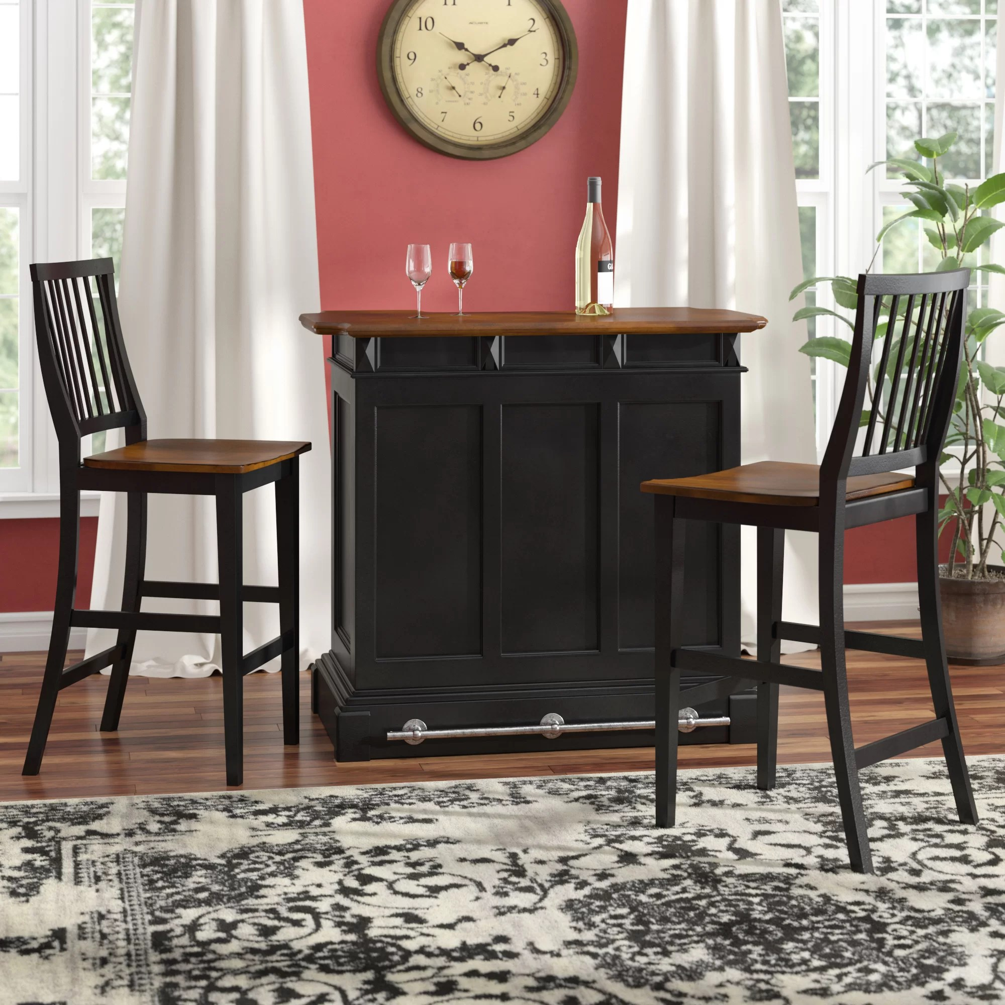 Home Bar Furniture Benally Home Bar Set