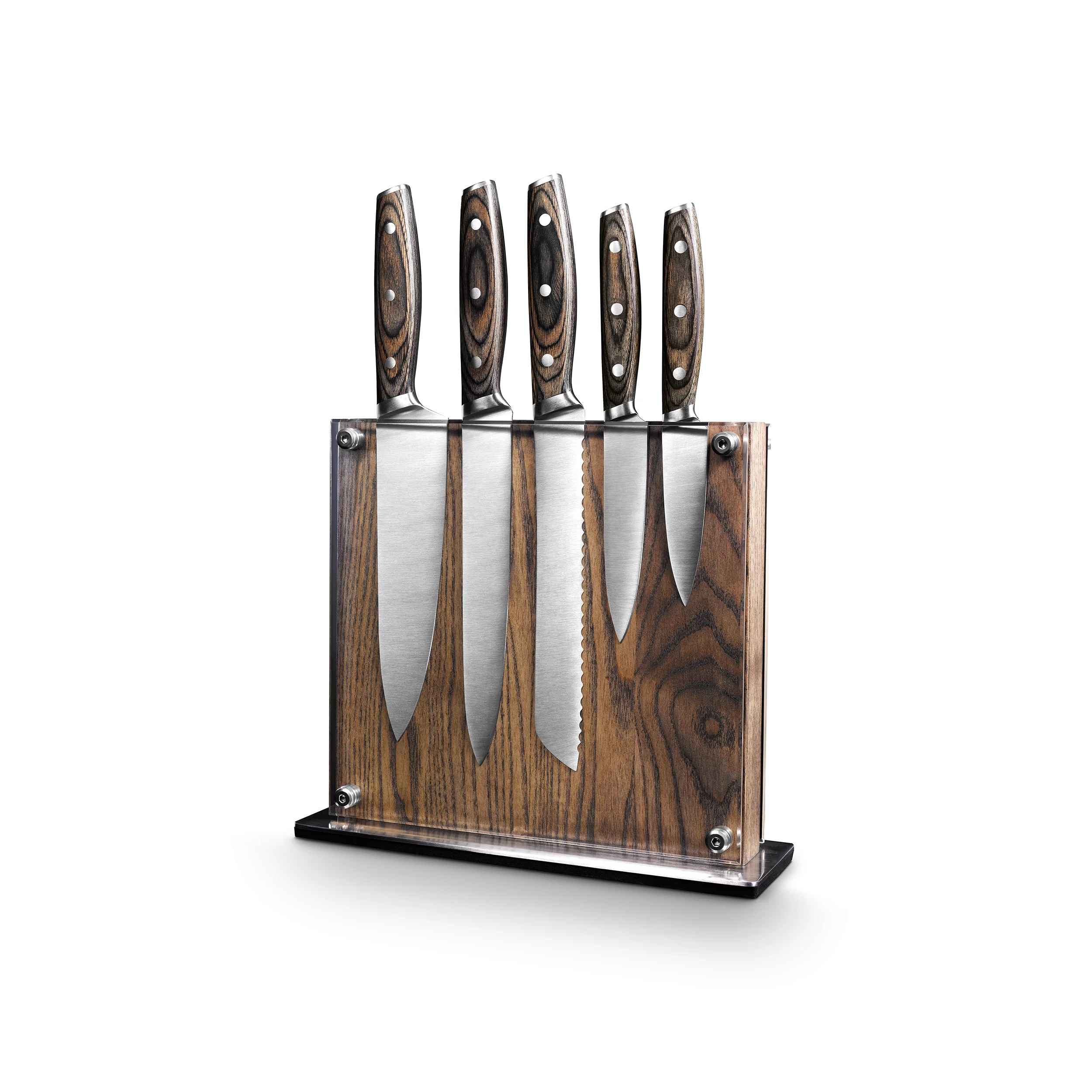 Magnet Kitchen Design App Art And Cook Ash Wood Magnetic 6 Piece Knife Block Set Wayfair