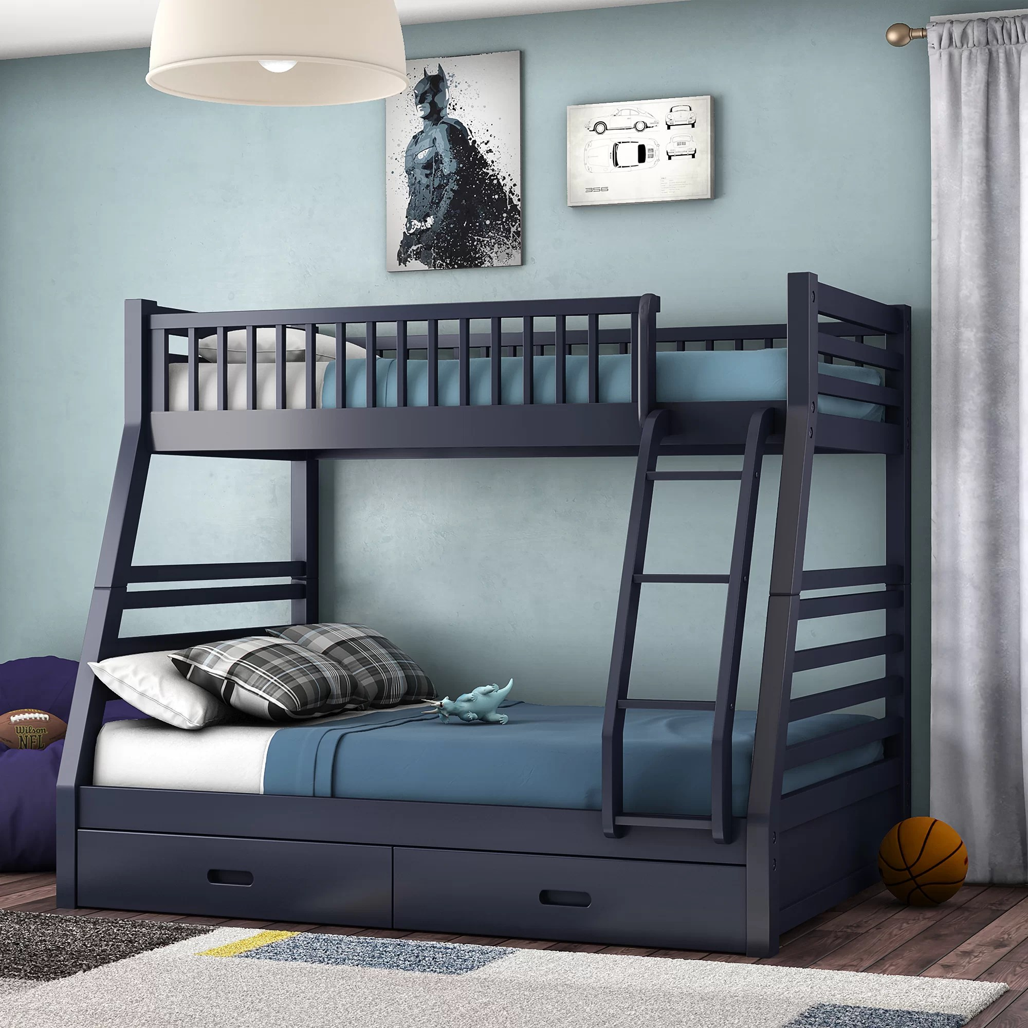 Snooze Bunk Beds Rafael Twin Over Full Bunk Bed With Storage