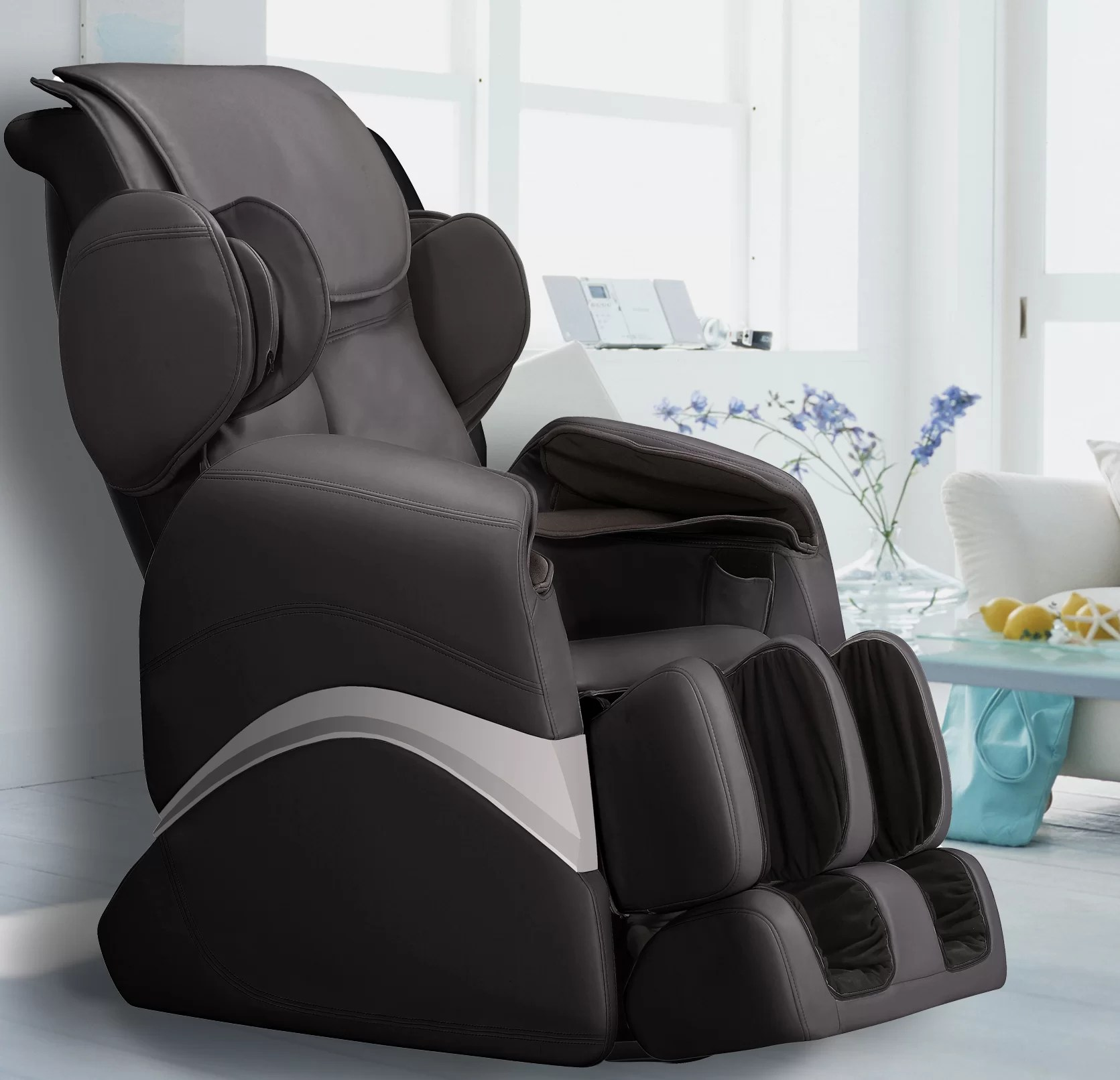 Massage Chair Cover Faux Leather Zero Gravity Massage Chair With Ottoman