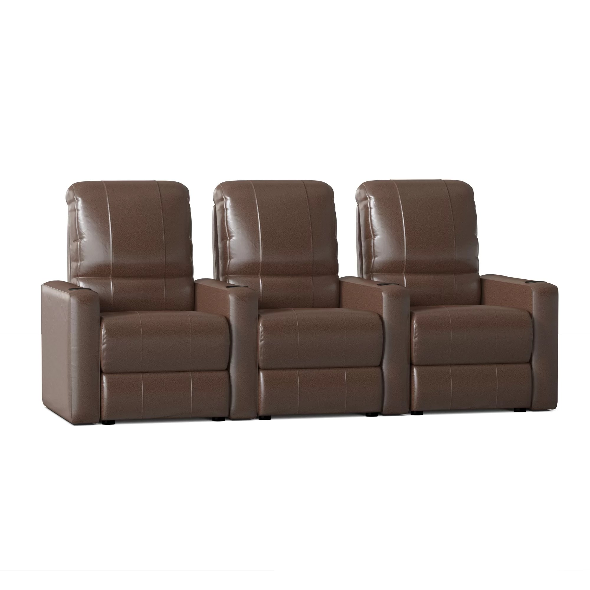 Latitude Run Home Theater Configurable Seating Row Of 4 Reviews Wayfair Ca