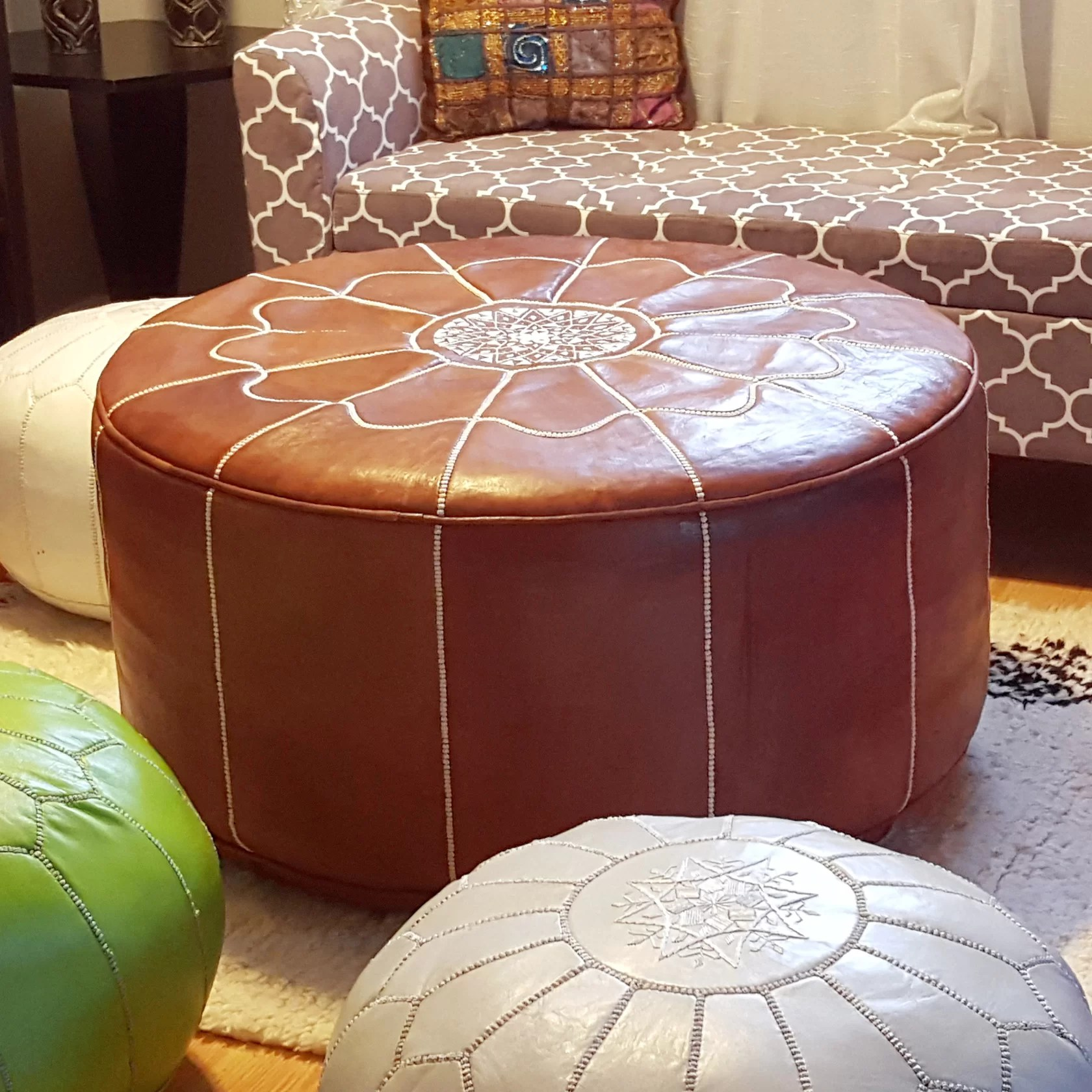 Moroccan Leather Pouf Design Sit Down Pinterest Leather Giant Moroccan Leather Pouf