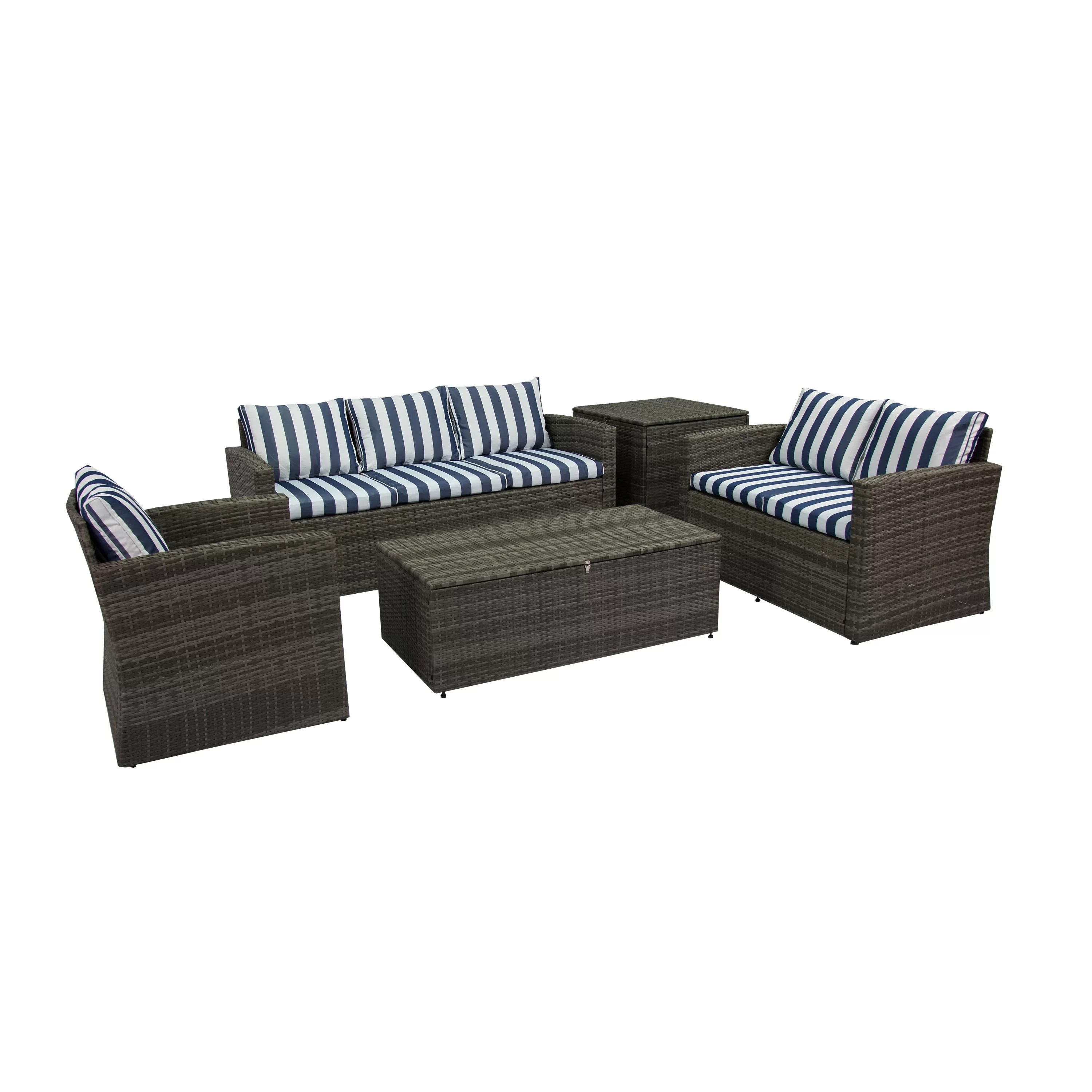 Best Choice Products 5pc Rattan Wicker Sofa Set Instructions Ridgemoor 5 Piece Sofa Set With Cushions