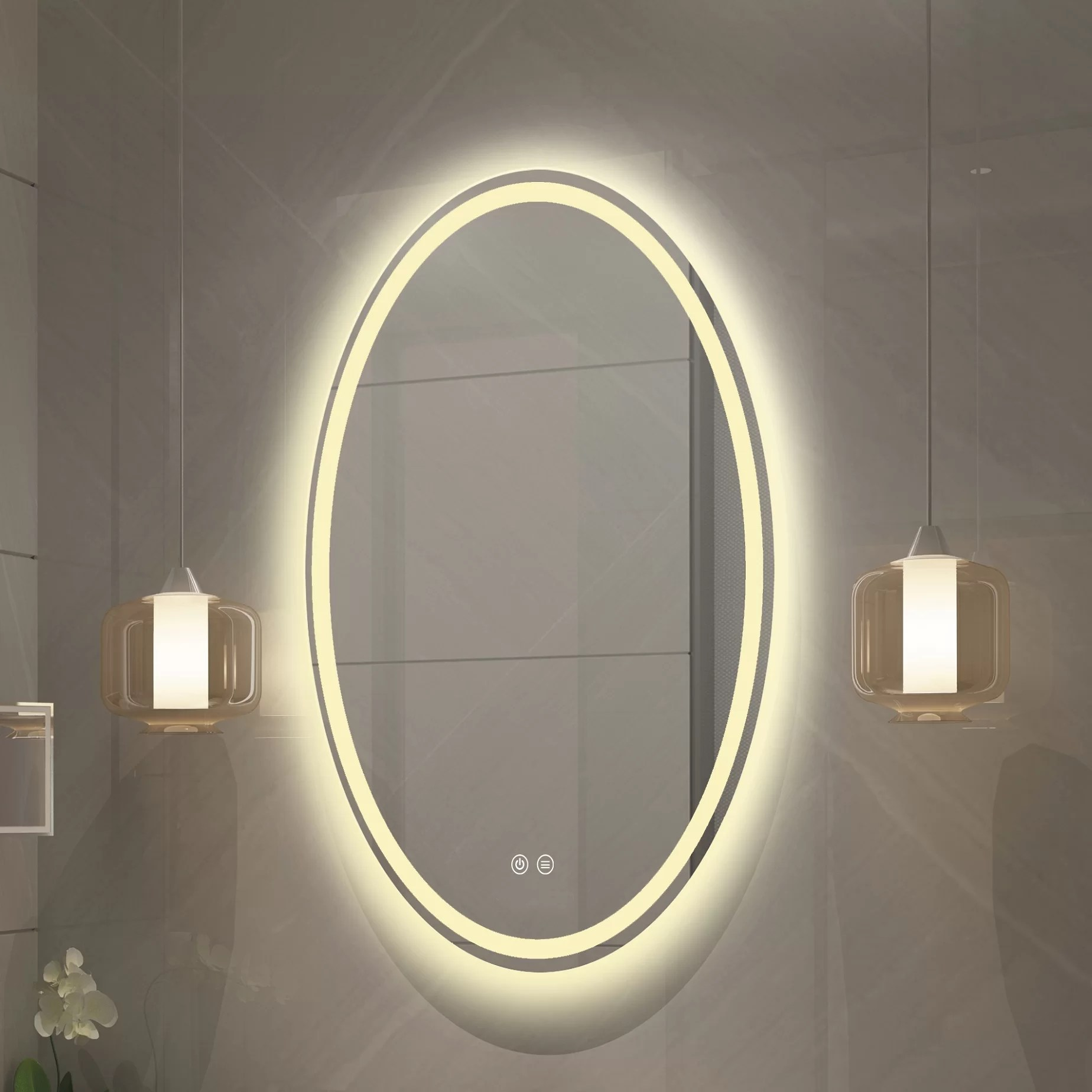Latitude Run Monterey Lighted Bathroom Vanity Mirror Reviews Wayfair Ca