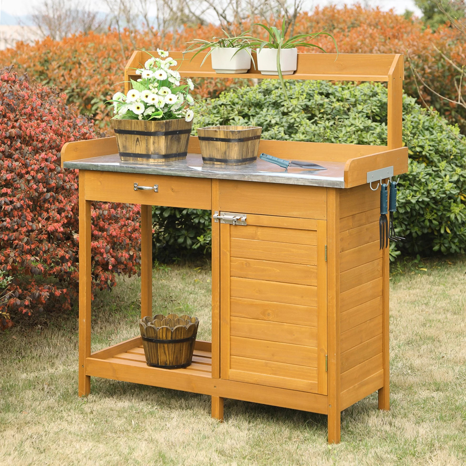Planting Tables For Sale Convenience Concepts Deluxe Potting Bench Reviews Wayfair