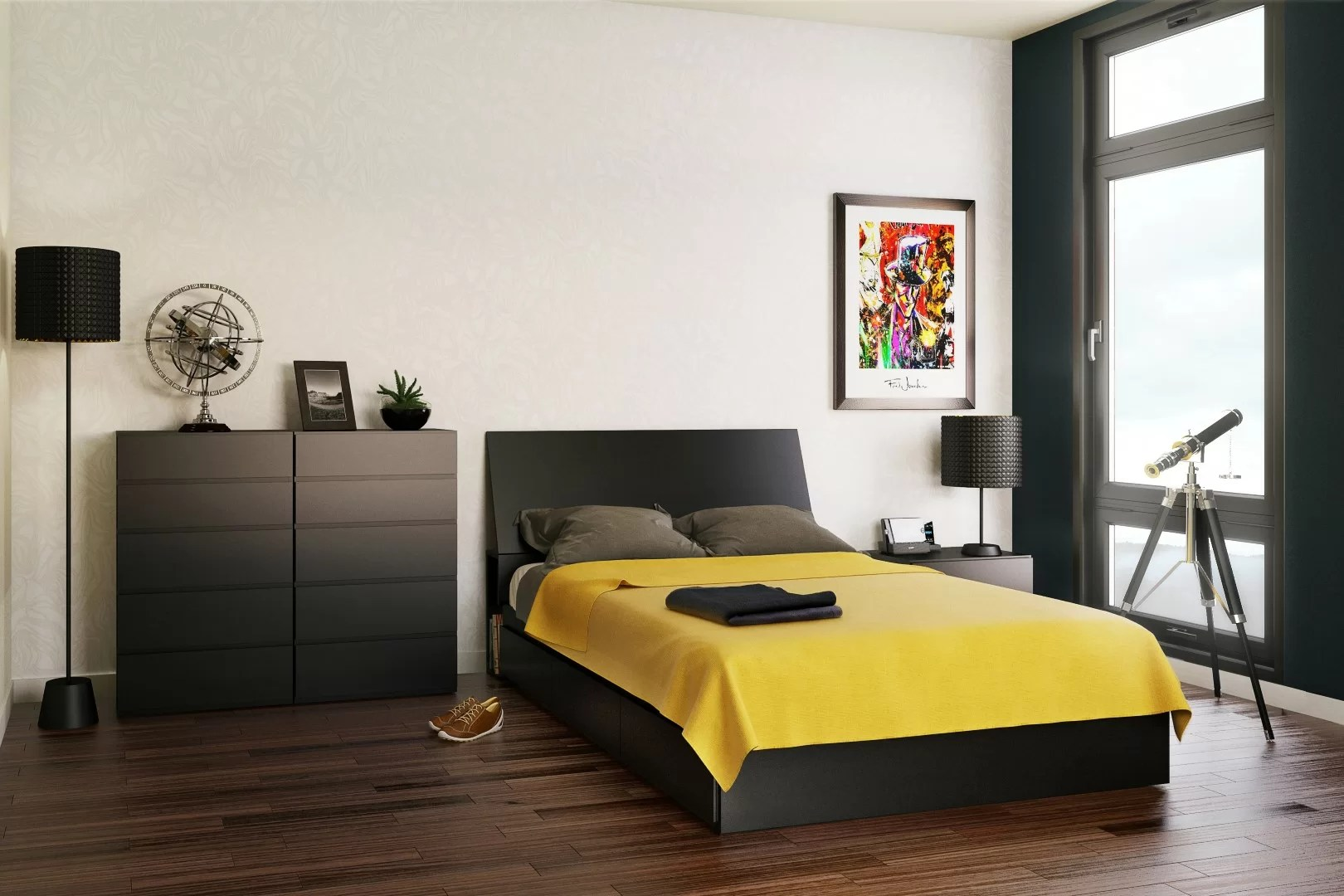 Bedding Storage Bowlin Wood Platform Bed With Storage