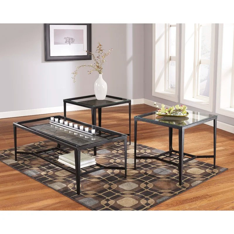 Flash Furniture Calder 3 Piece Coffee Table Set \ Reviews Wayfair - 3 piece living room table set