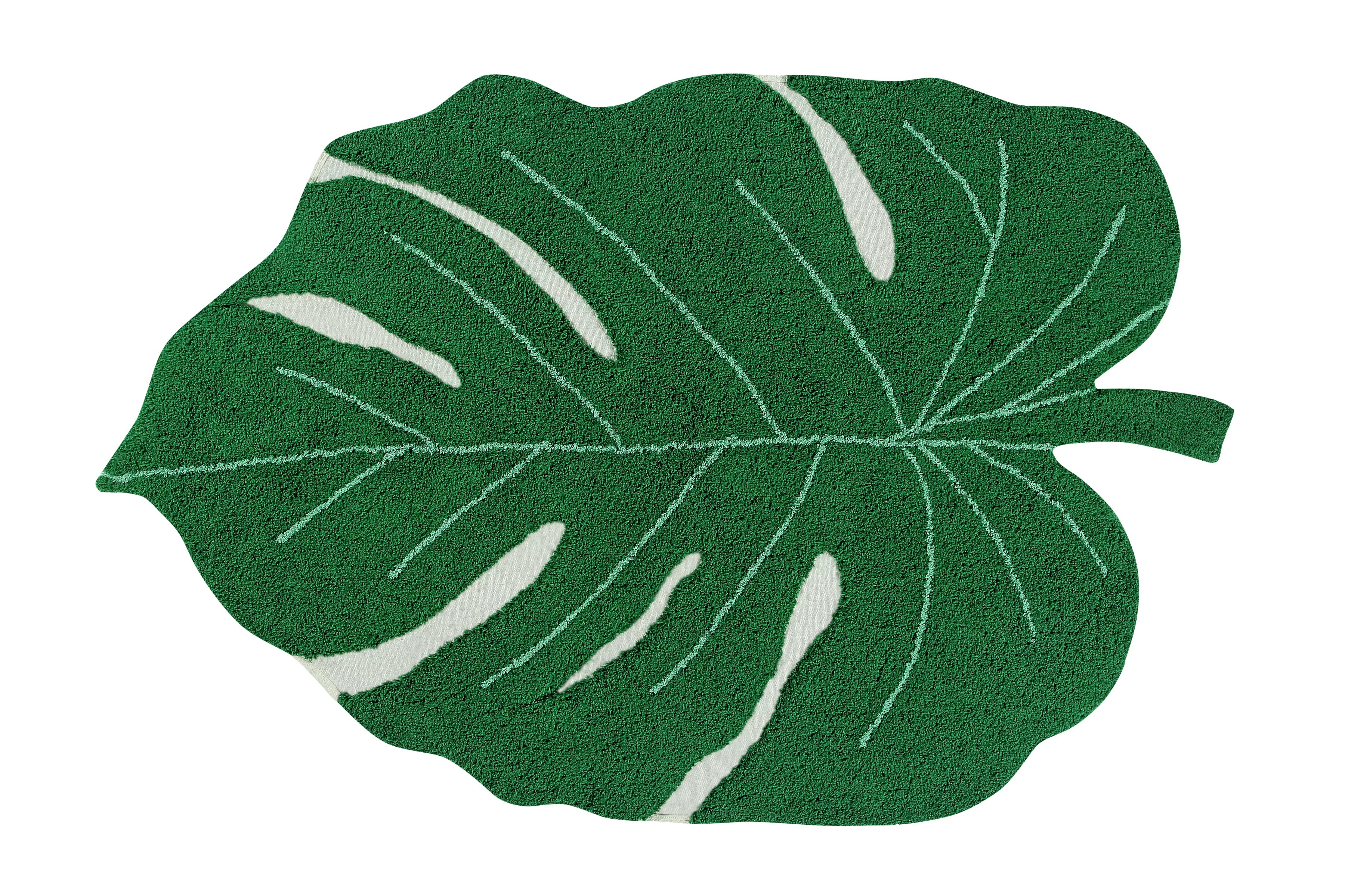 Lorena Canals Teppich Sale Monsters Leaf Hand Tufted Cotton Green Rug