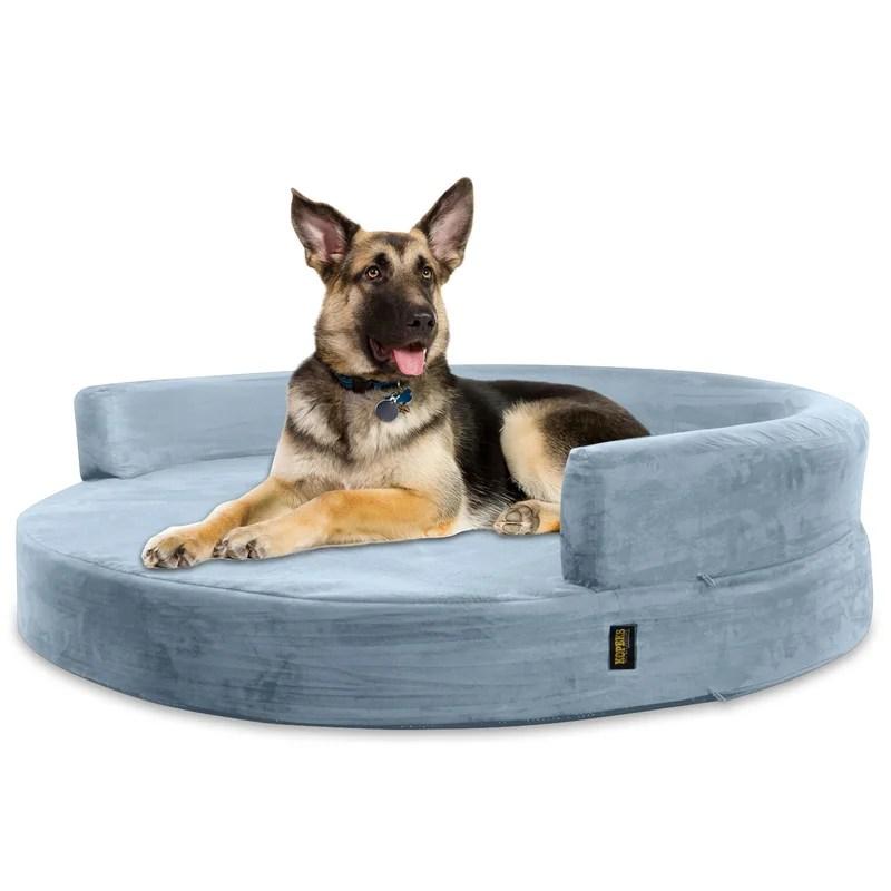 Archie  Oscar Fala Deluxe Orthopedic Memory Foam Round Lounge Dog