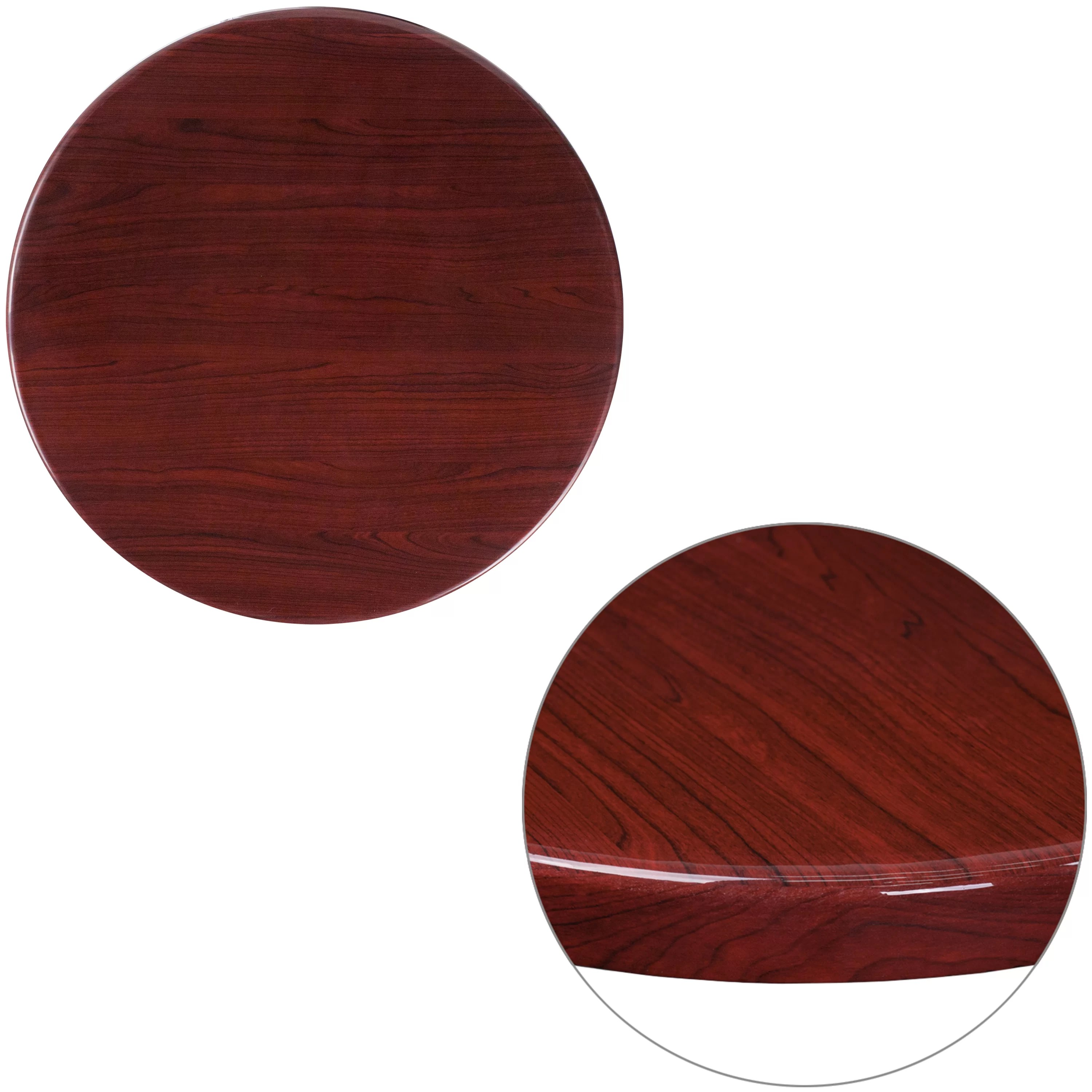 Round Table Tops Farren Round High Gloss Resin Table Top