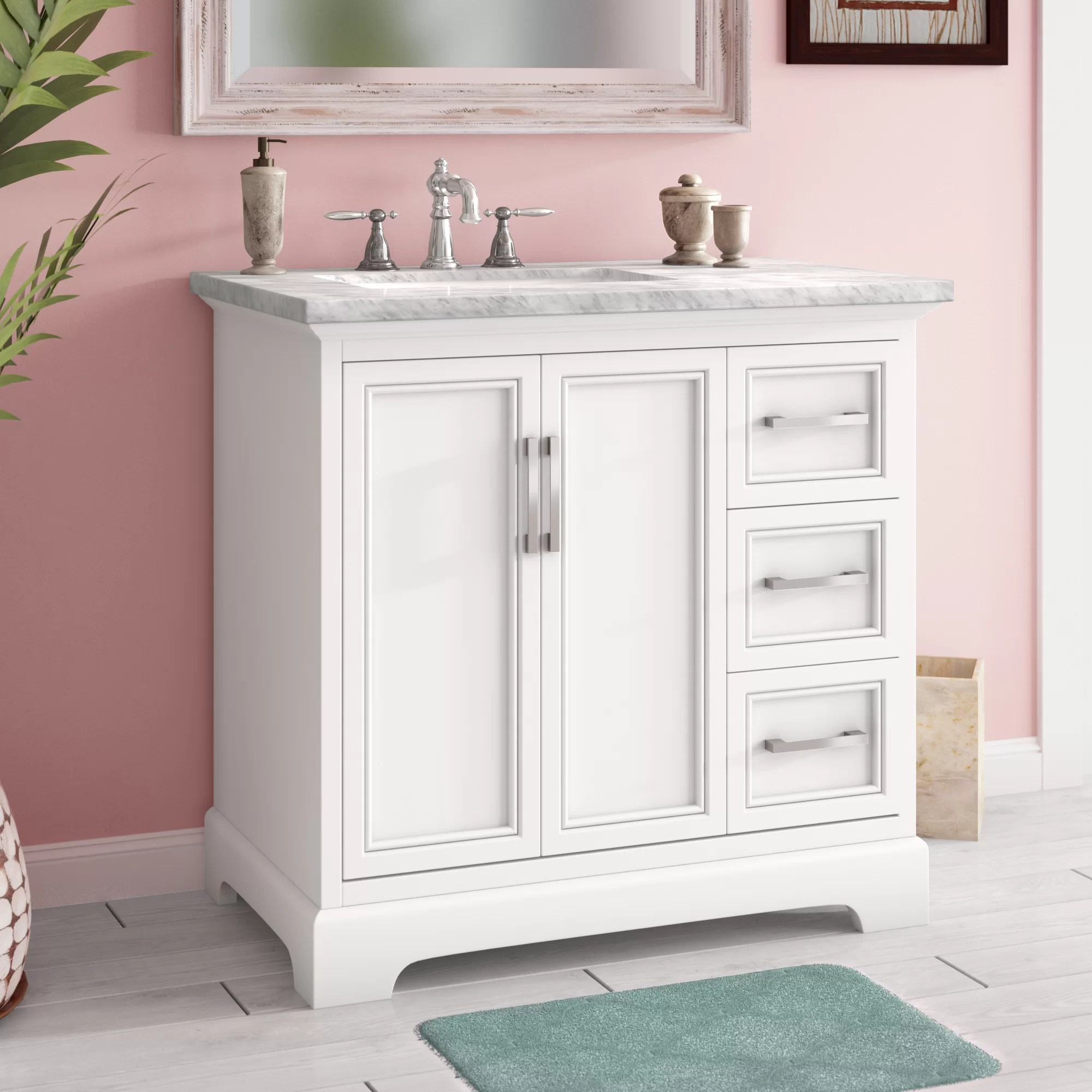Meuble Coiffeuse Grand Modele Ensemble De Meuble Lavabo De Salle De Bain Simple 36 Po Ravenworth