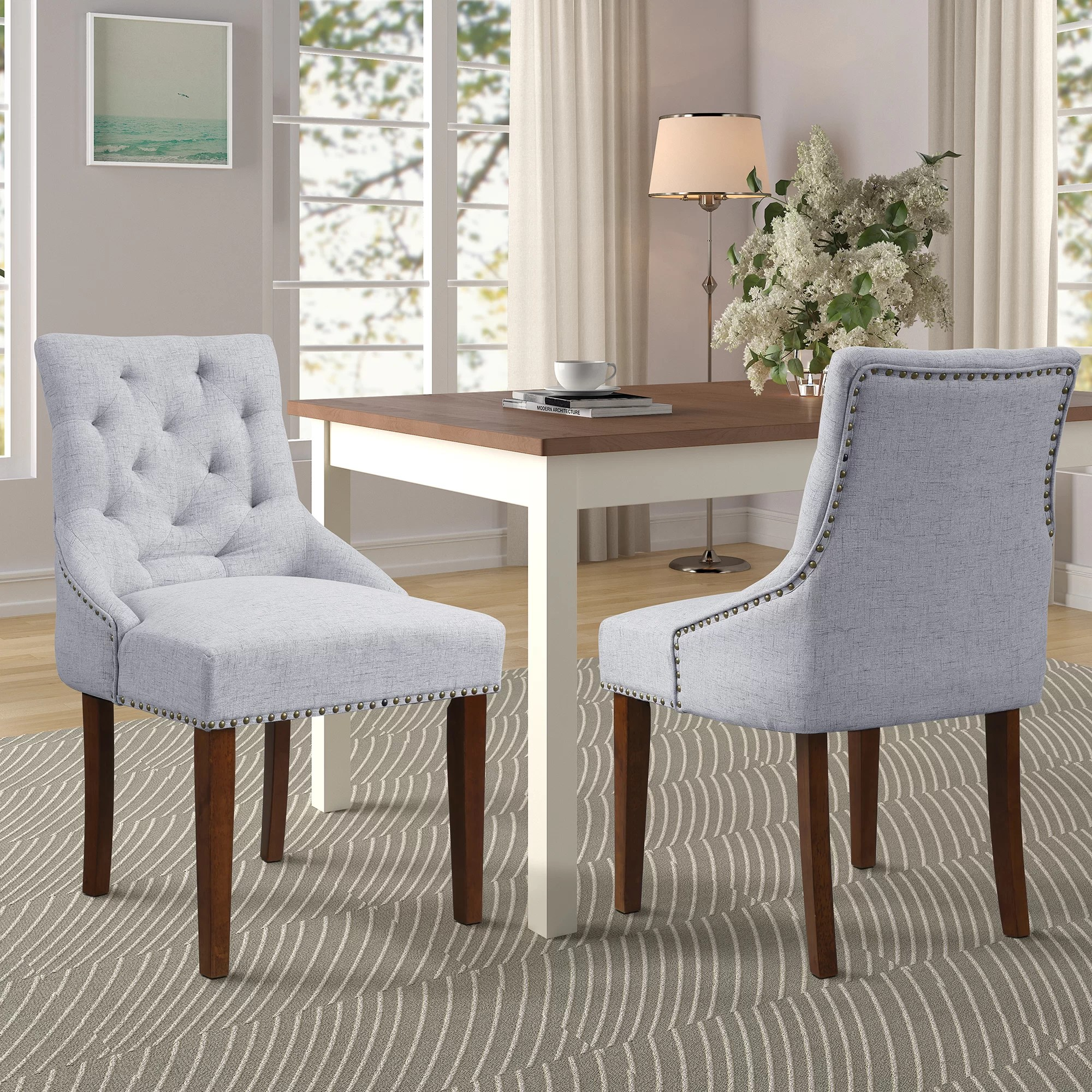 Canora Grey Mehaffey Upholstered Dining Chair Wayfair
