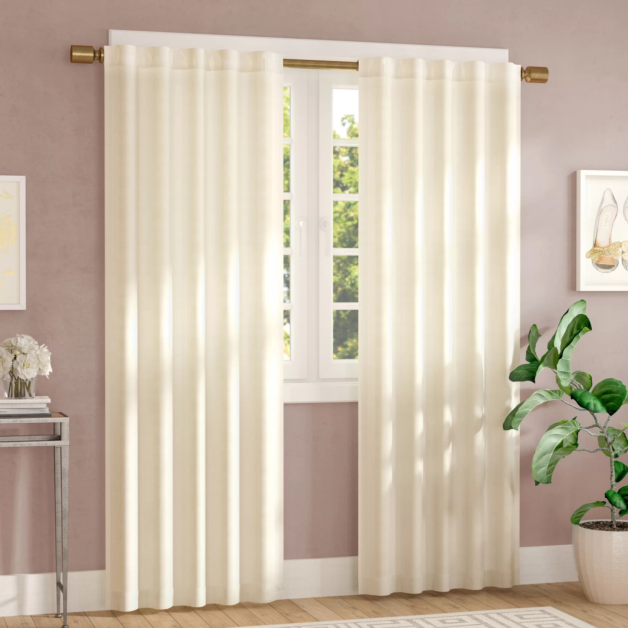 36 Inch Room Darkening Curtains Java Poly Velvet Solid Room Darkening Rod Pocket Tab Top Curtain Panels