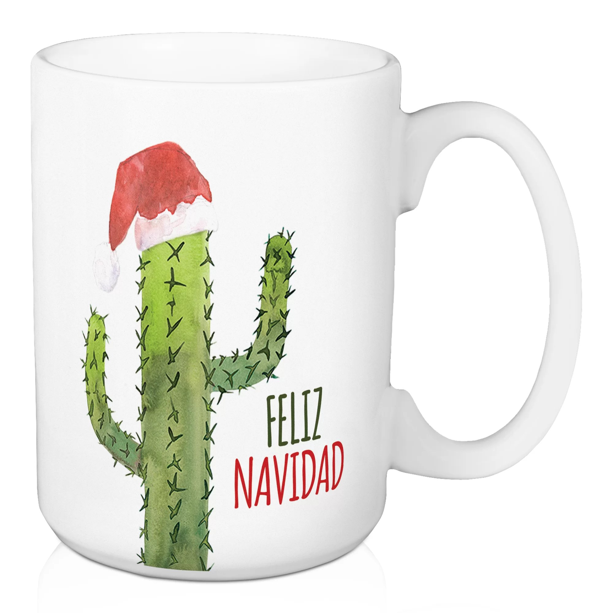 Mug A Cafe The Holiday Aisle Feliz Navidad Cactus Coffee Mug Wayfair Ca