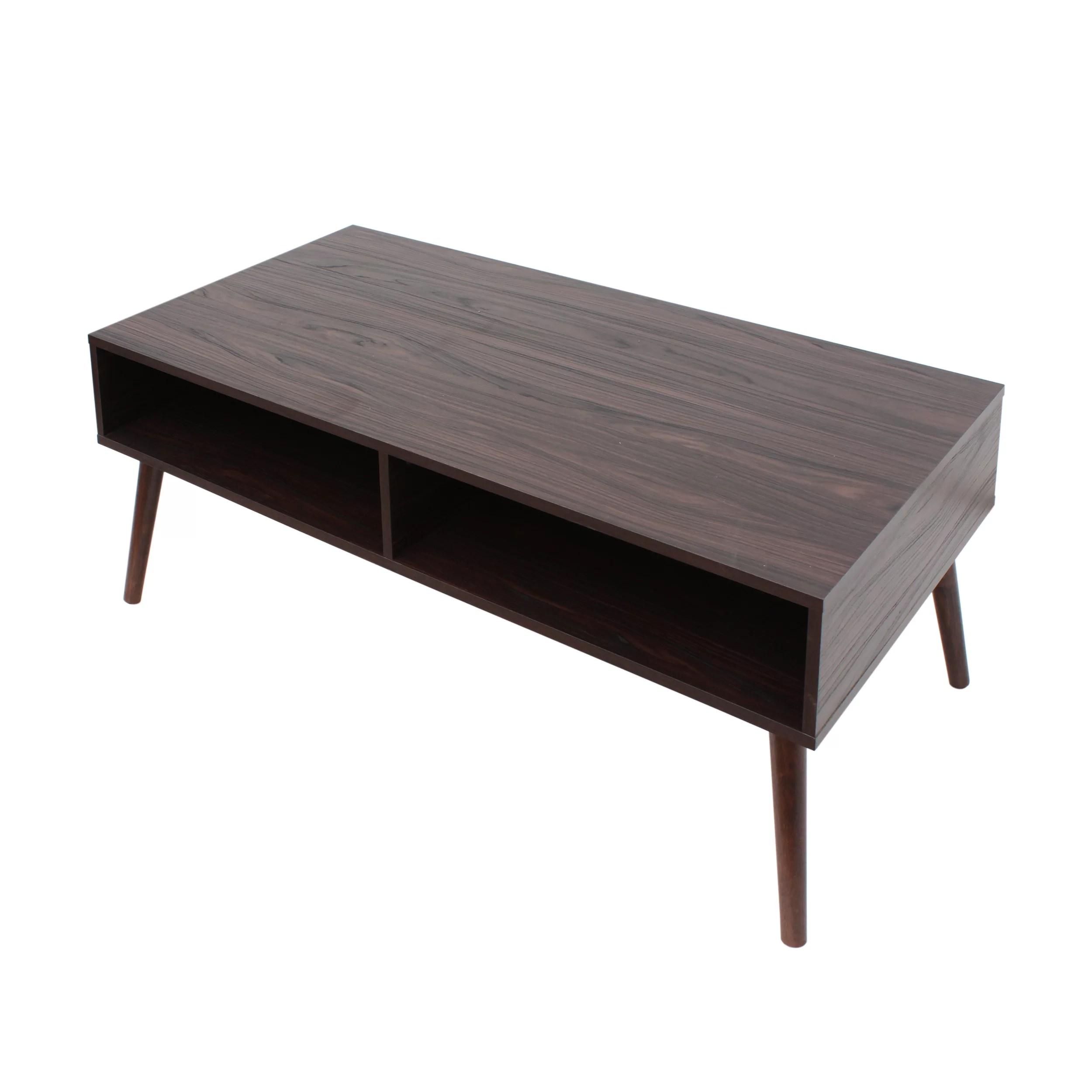 Modern Coffee Table With Storage Goetsch Mid Century Modern Coffee Table