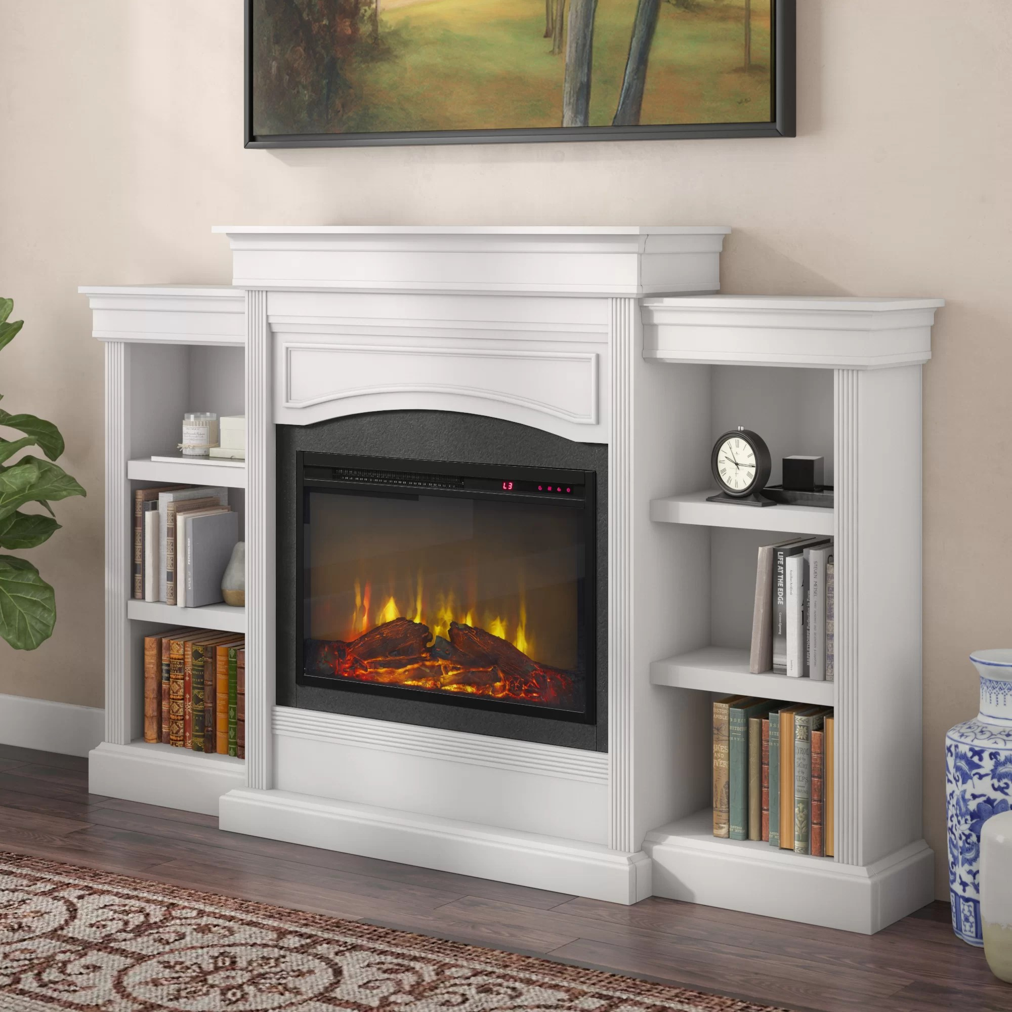 Living Room Electric Fireplace Allsop Mantel Wall Mounted Electric Fireplace