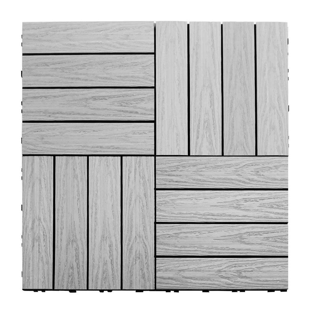 Interlocking Deck Tiles Naturale Composite 12