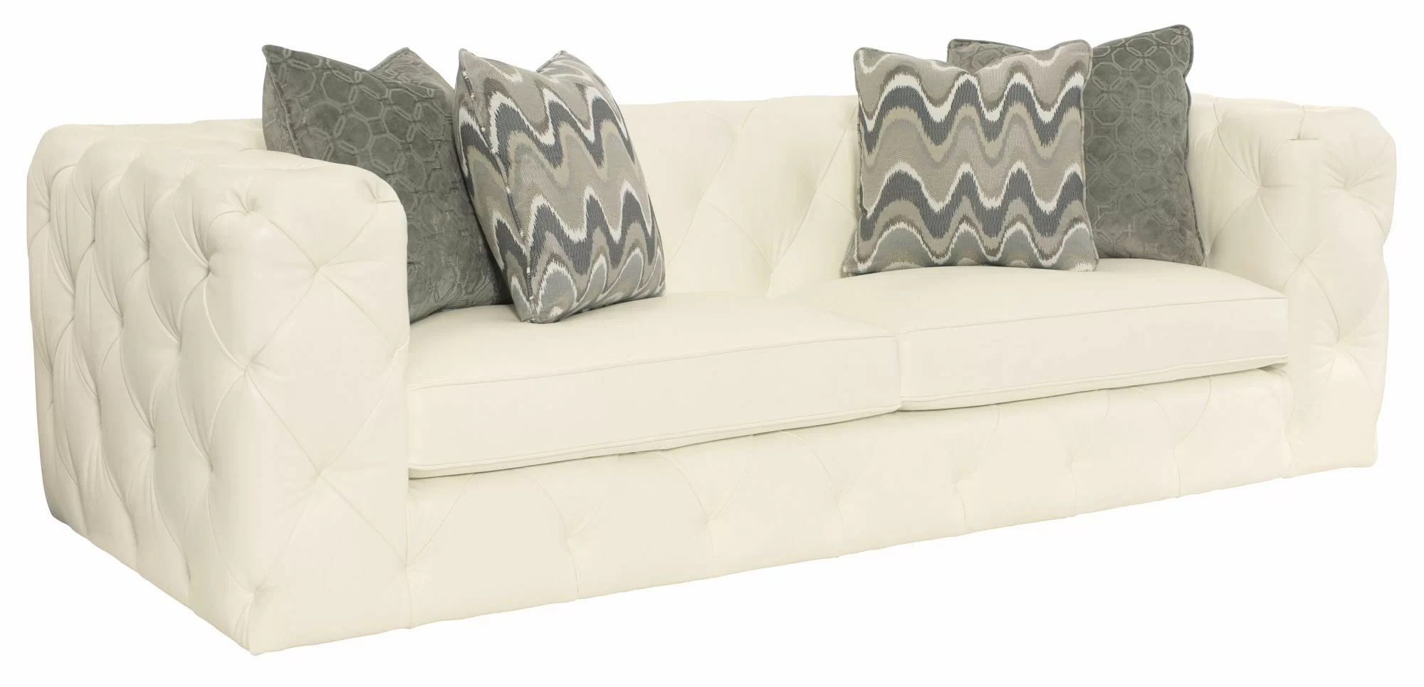 White Leather Couch Chelsea Leather Sofa