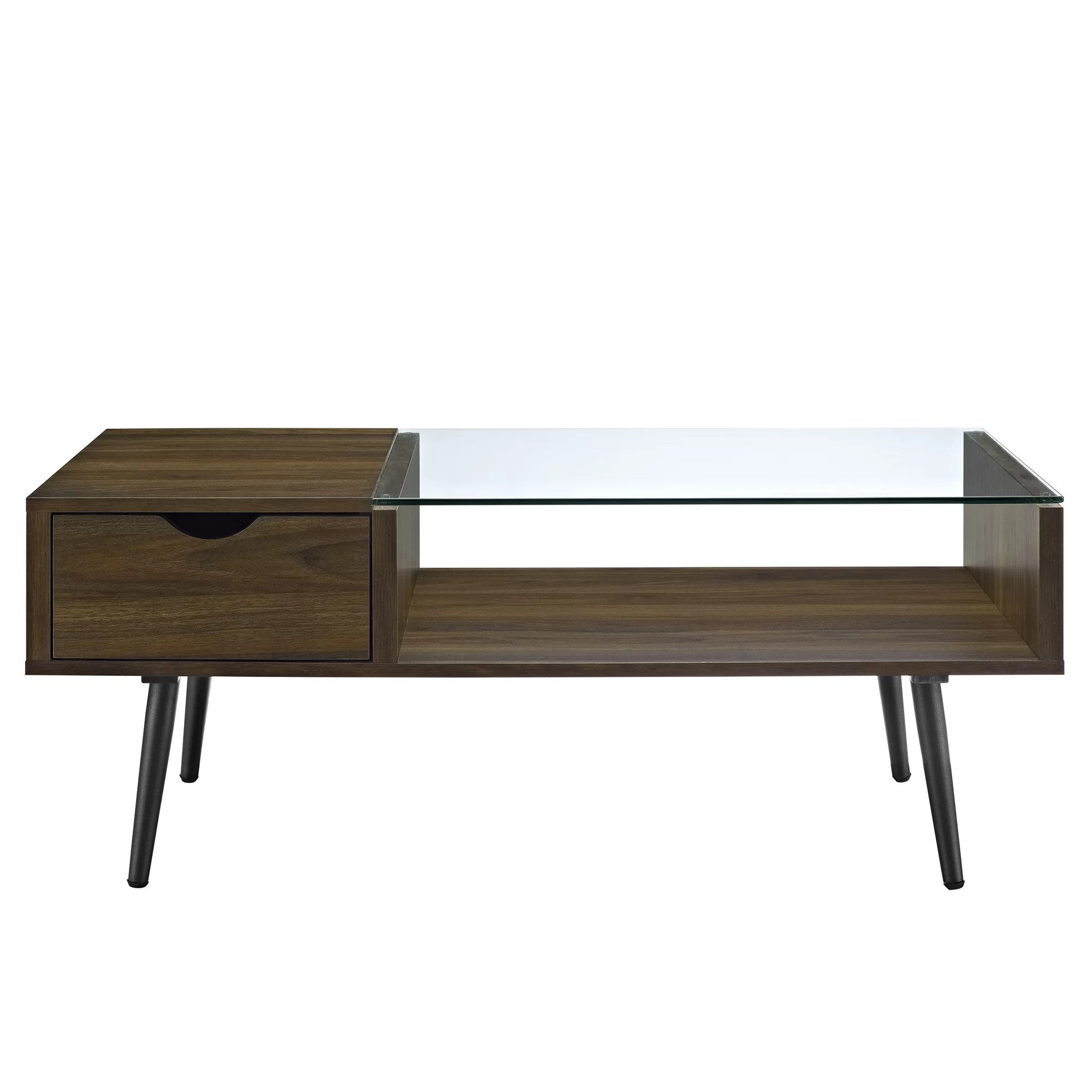 Vero Wood Couchtisch George Oliver Cirillo Wood And Glass Coffee Table