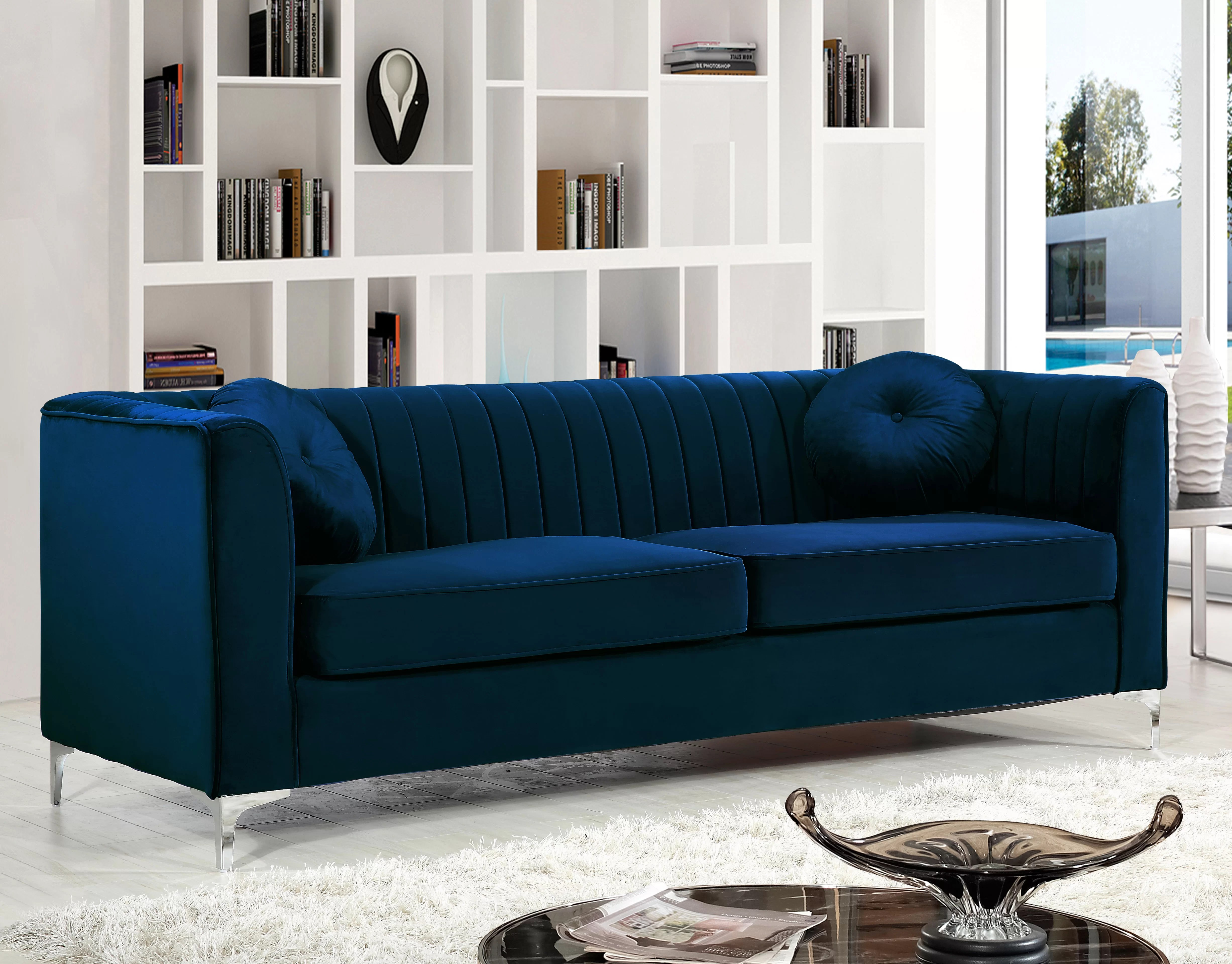 Sofa Couch Or Chesterfield Blue Chesterfield Sofas You Ll Love Wayfair